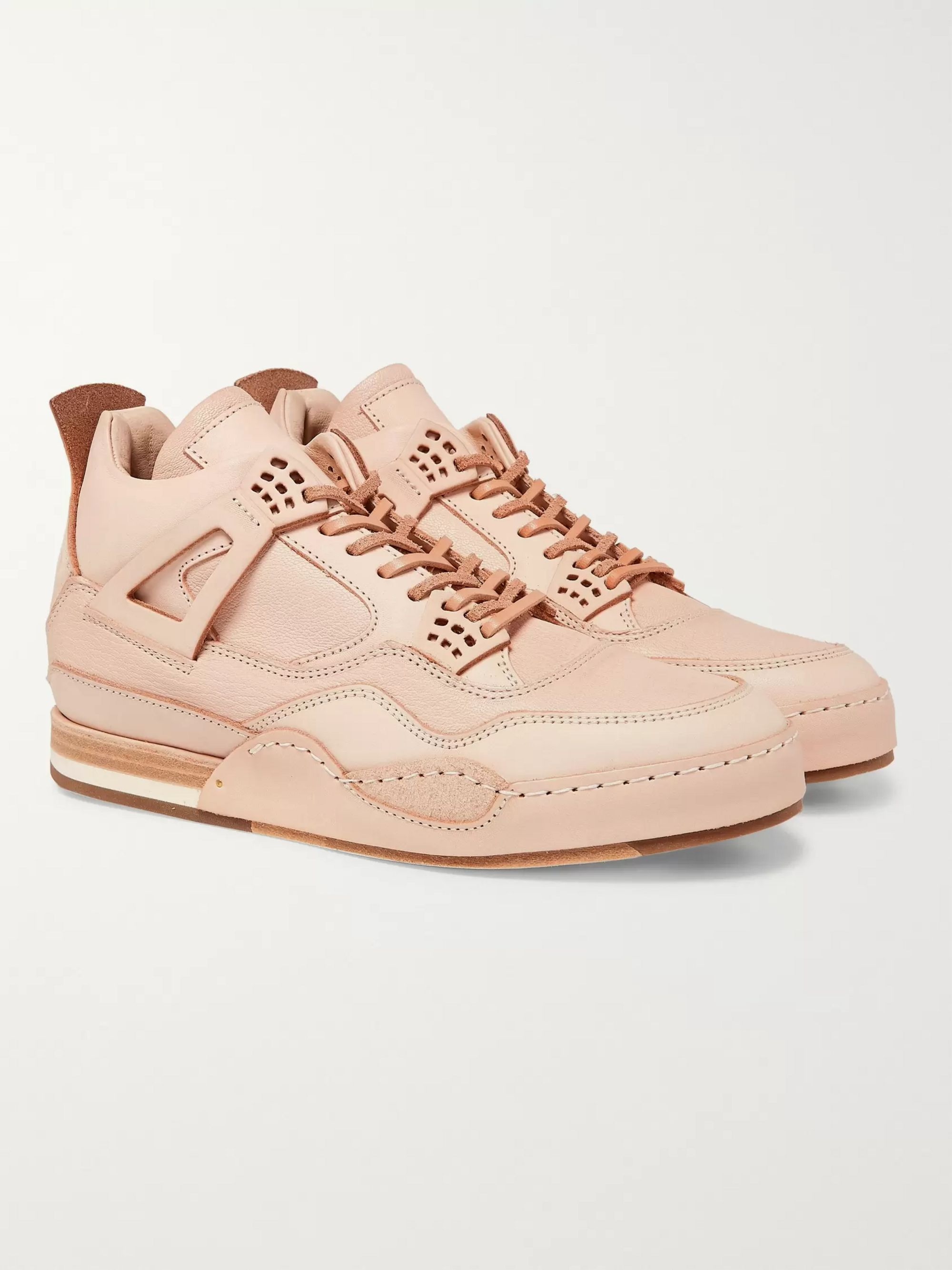 Hender Scheme MIP-10 Nubuck-Trimmed Leather Sneakers