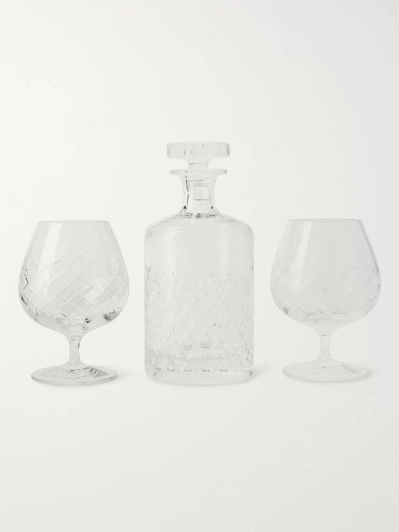 Soho Home Barwell Cut Crystal Brandy Set