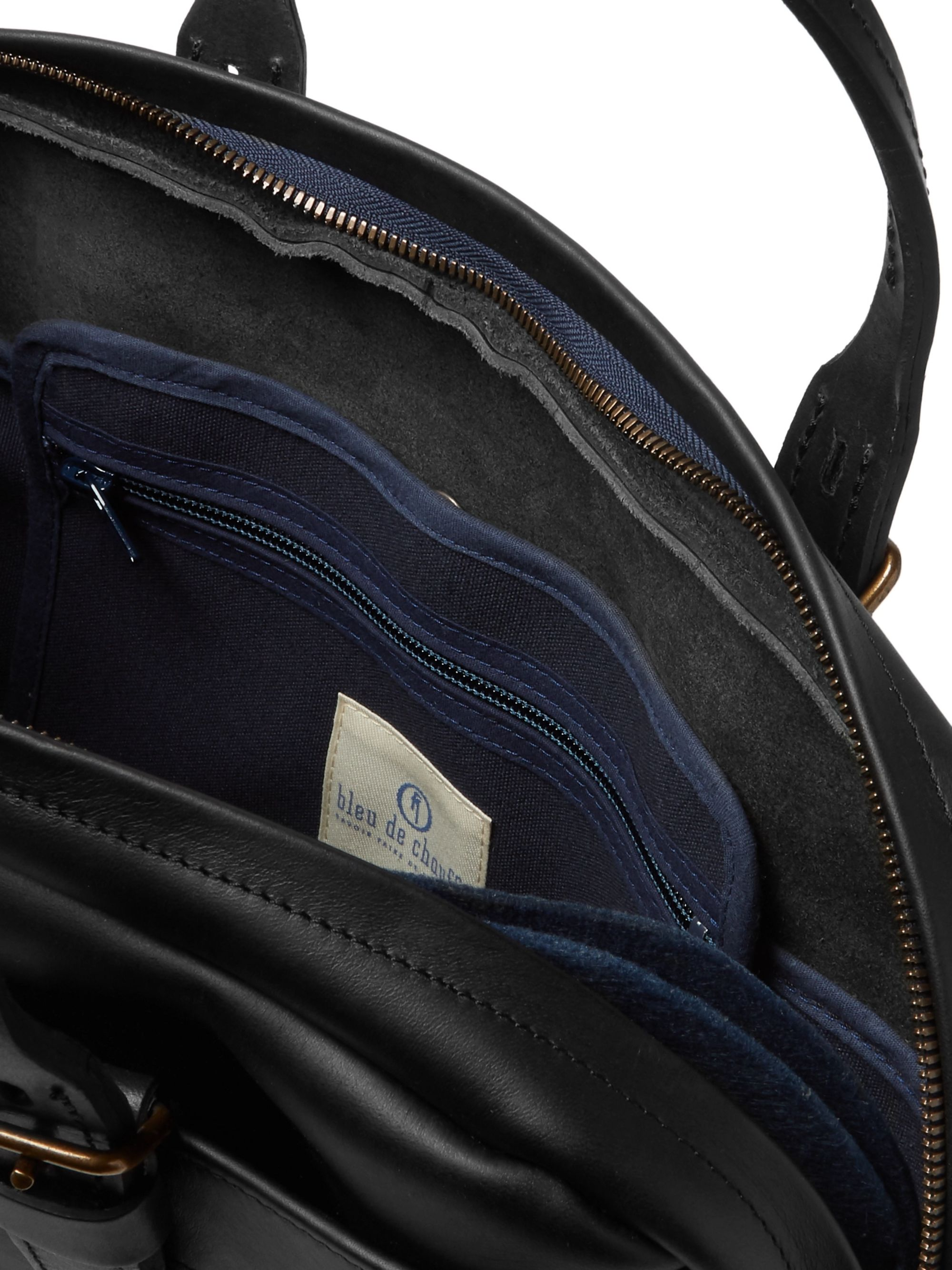 Bleu de Chauffe Leather Briefcase