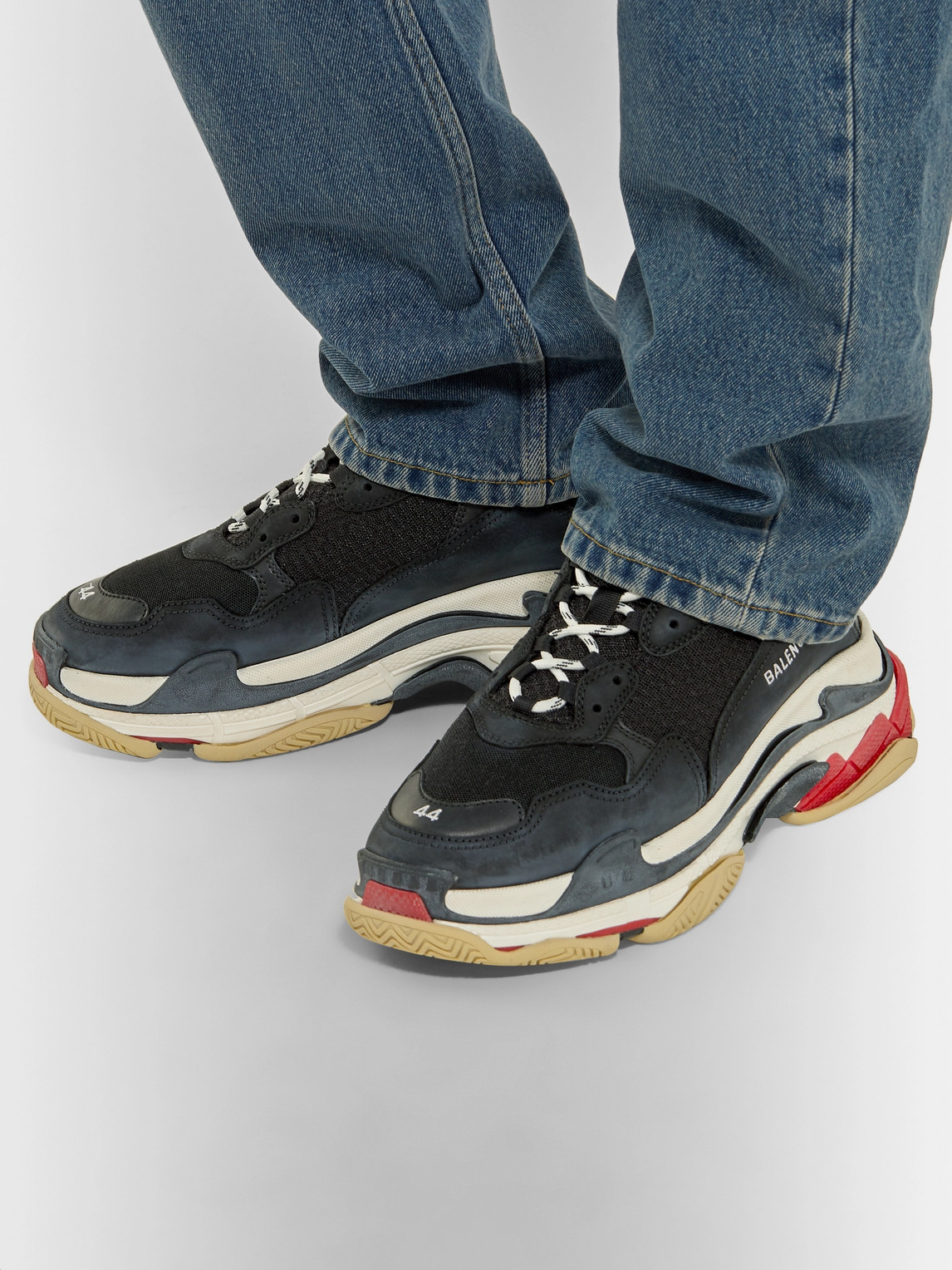Balenciaga Sneakers TRIPLE S MESH, NUBUCK AND LEATHER SNEAKERS