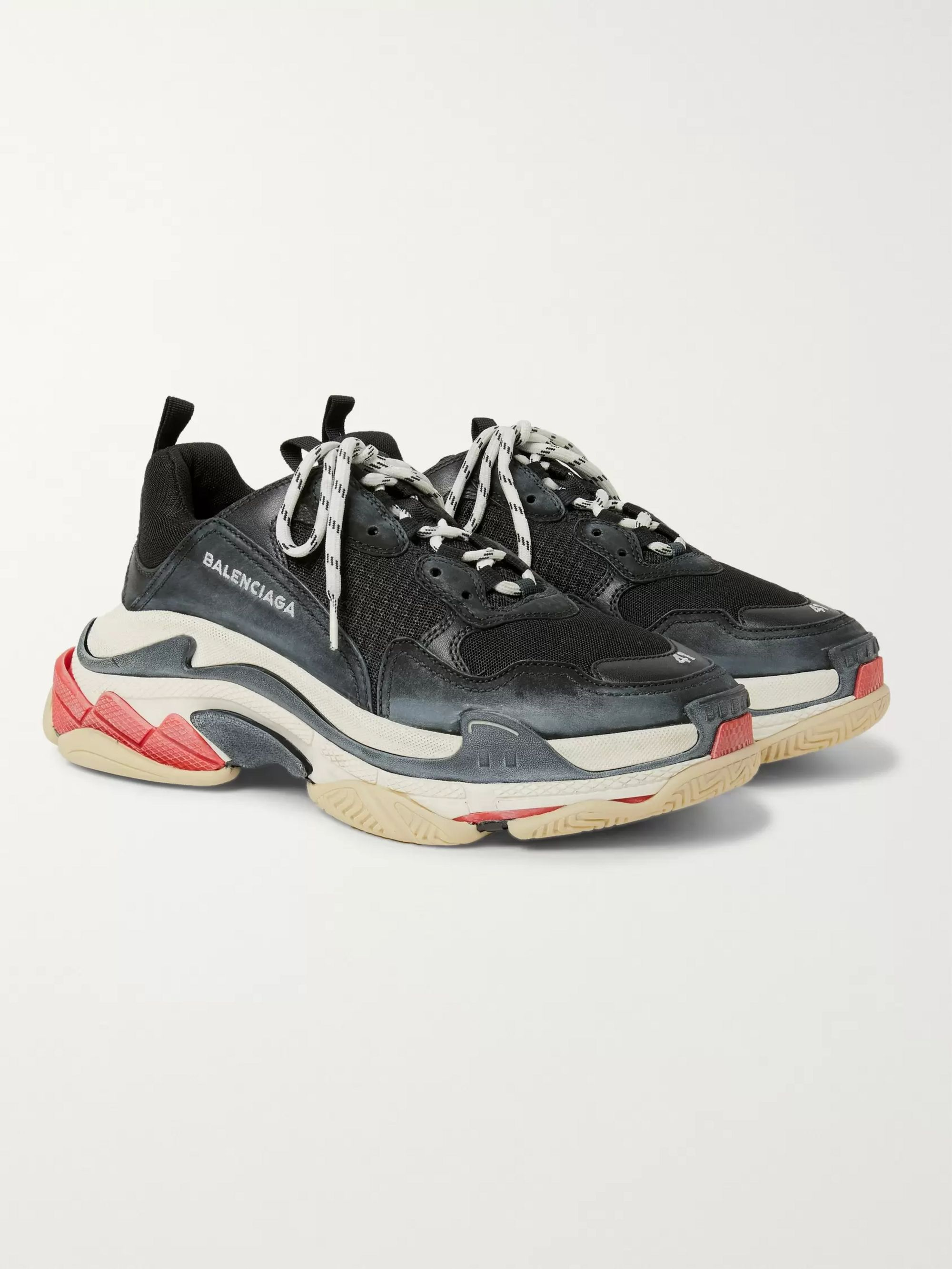 Balenciaga Triple S Black Burgundy 182342M237001 StockX