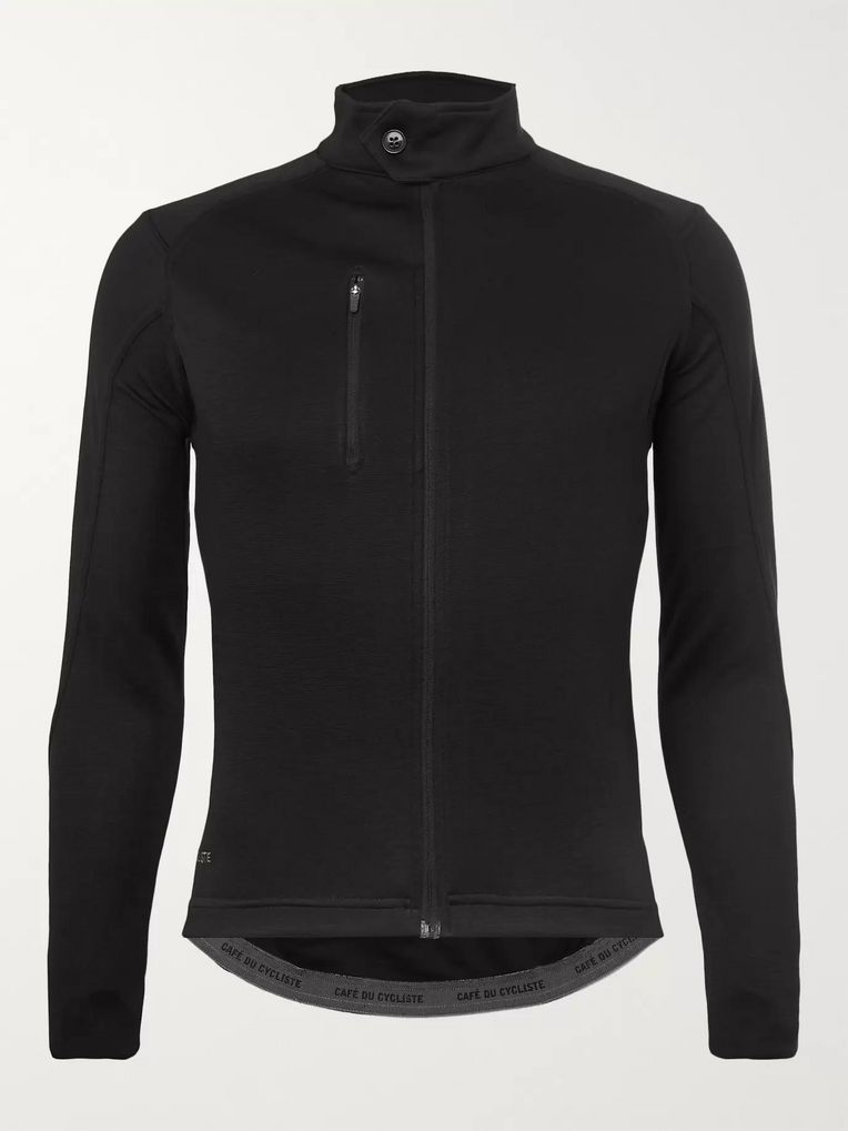 Cafe du Cycliste Yolande Faux Suede-Trimmed Cycling Jersey