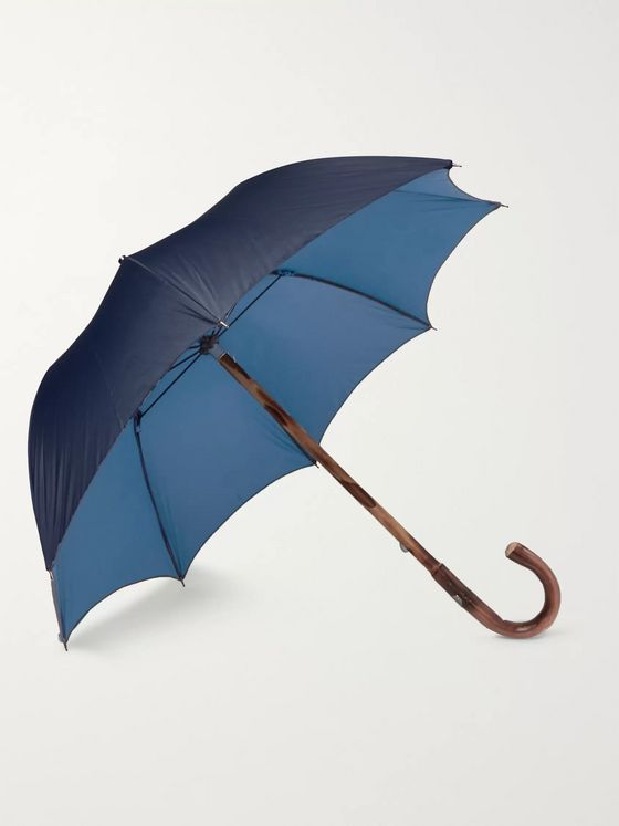 Francesco Maglia Lord Chestnut Wood-Handle Two-Tone Umbrella
