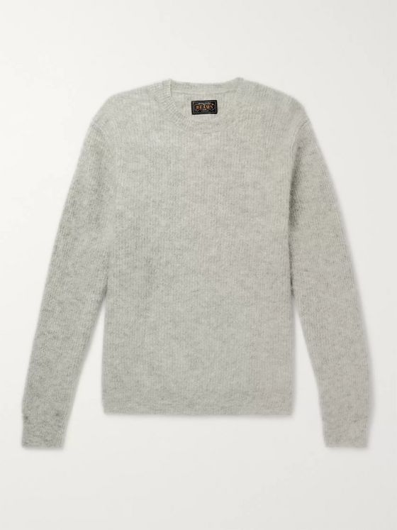 Beams Plus Mélange Mohair-Blend Sweater