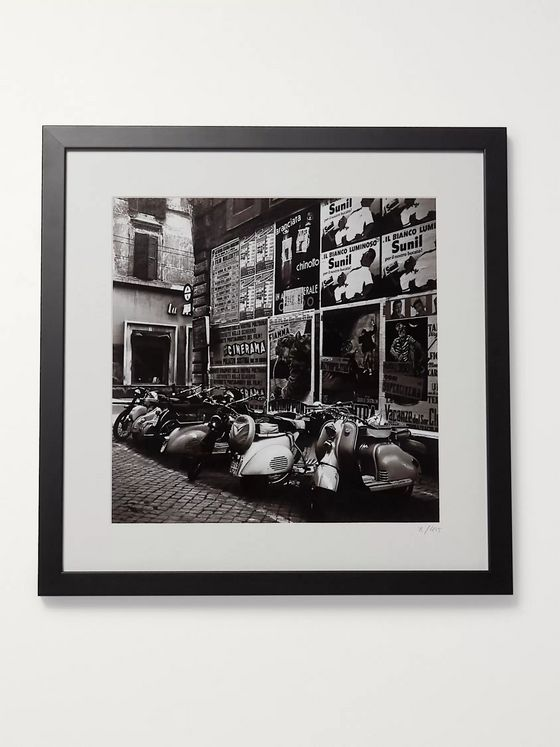 "Sonic Editions Framed 1955 Scooters in Rome Print, 16"" x 20"""