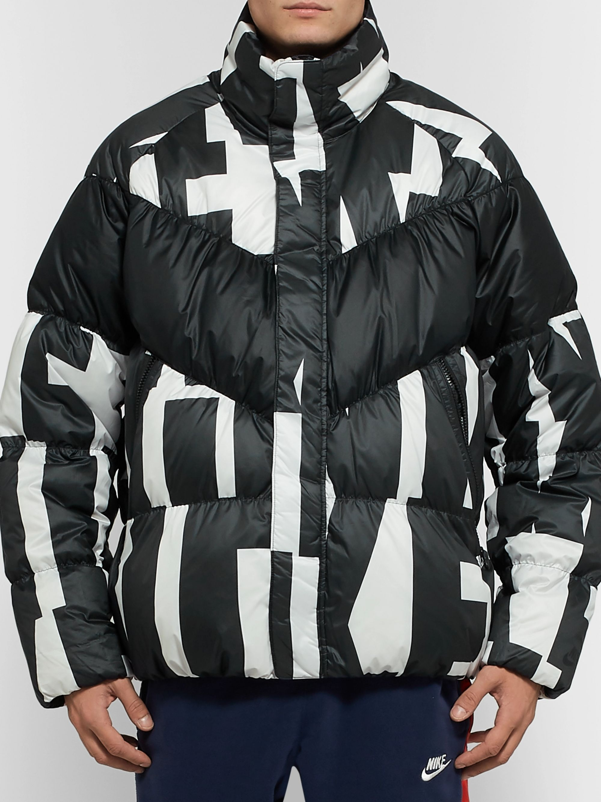 NIKE Sportswear Quilted Printed Shell Down Jacket