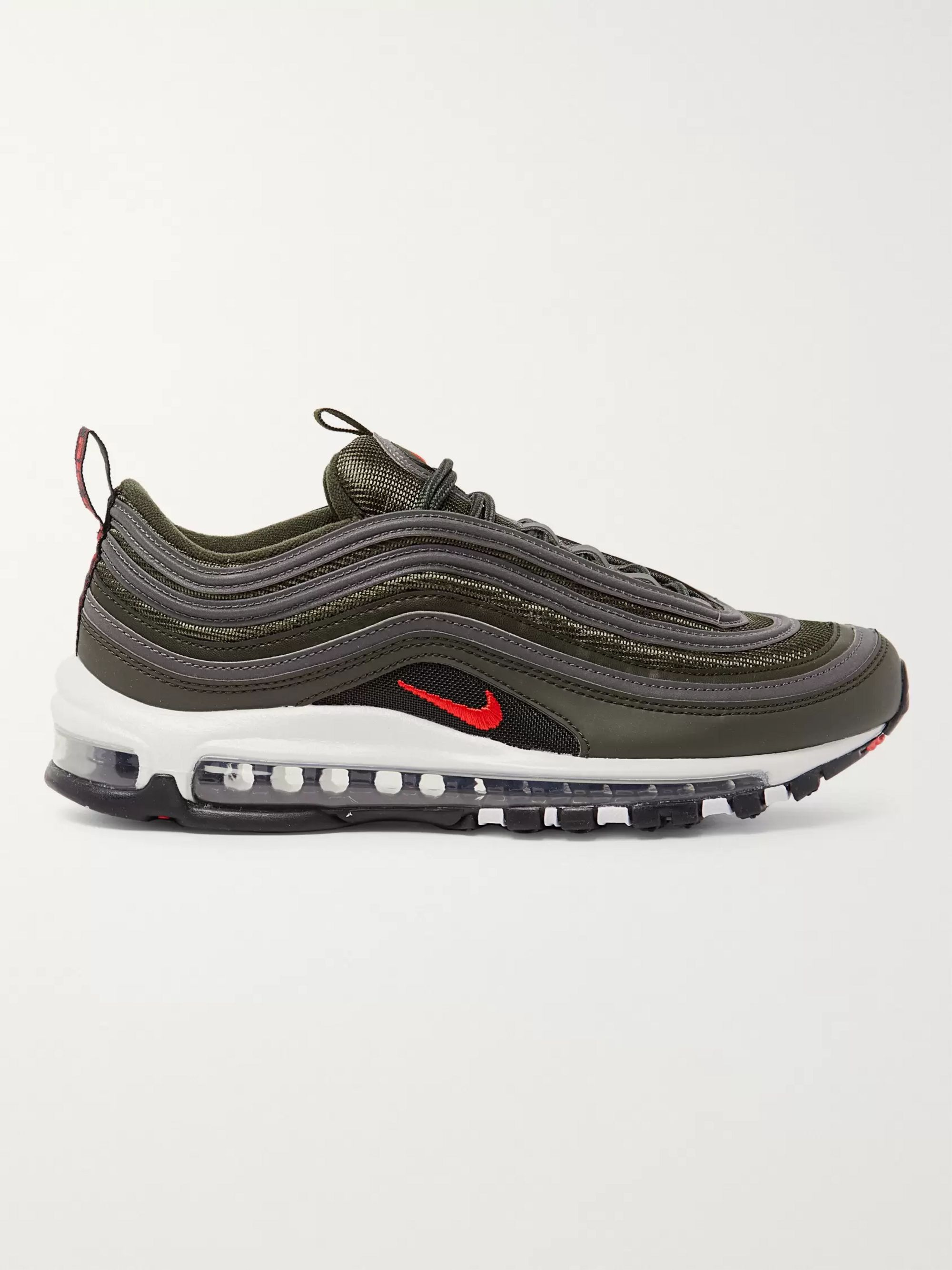 Air Max 97 Faux Leather and Mesh Sneakers