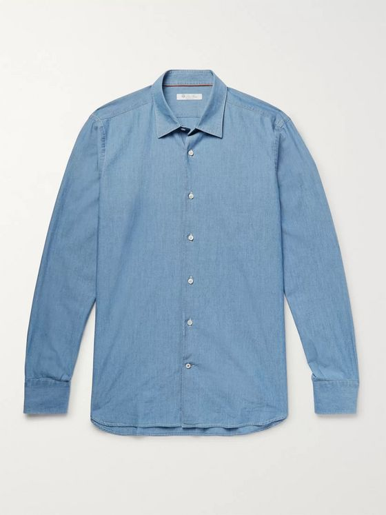 Loro Piana Preston Cotton-Chambray Shirt