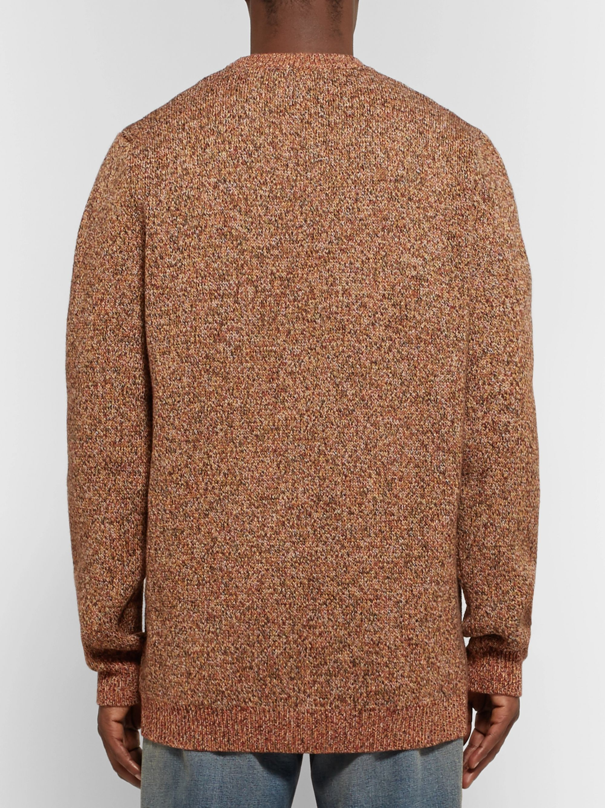 Gucci Oversized Intarsia Mélange Wool Sweater