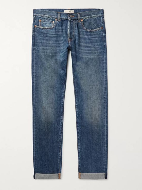 SALLE PRIVÉE Lewitt Distressed Selvedge Denim Jeans
