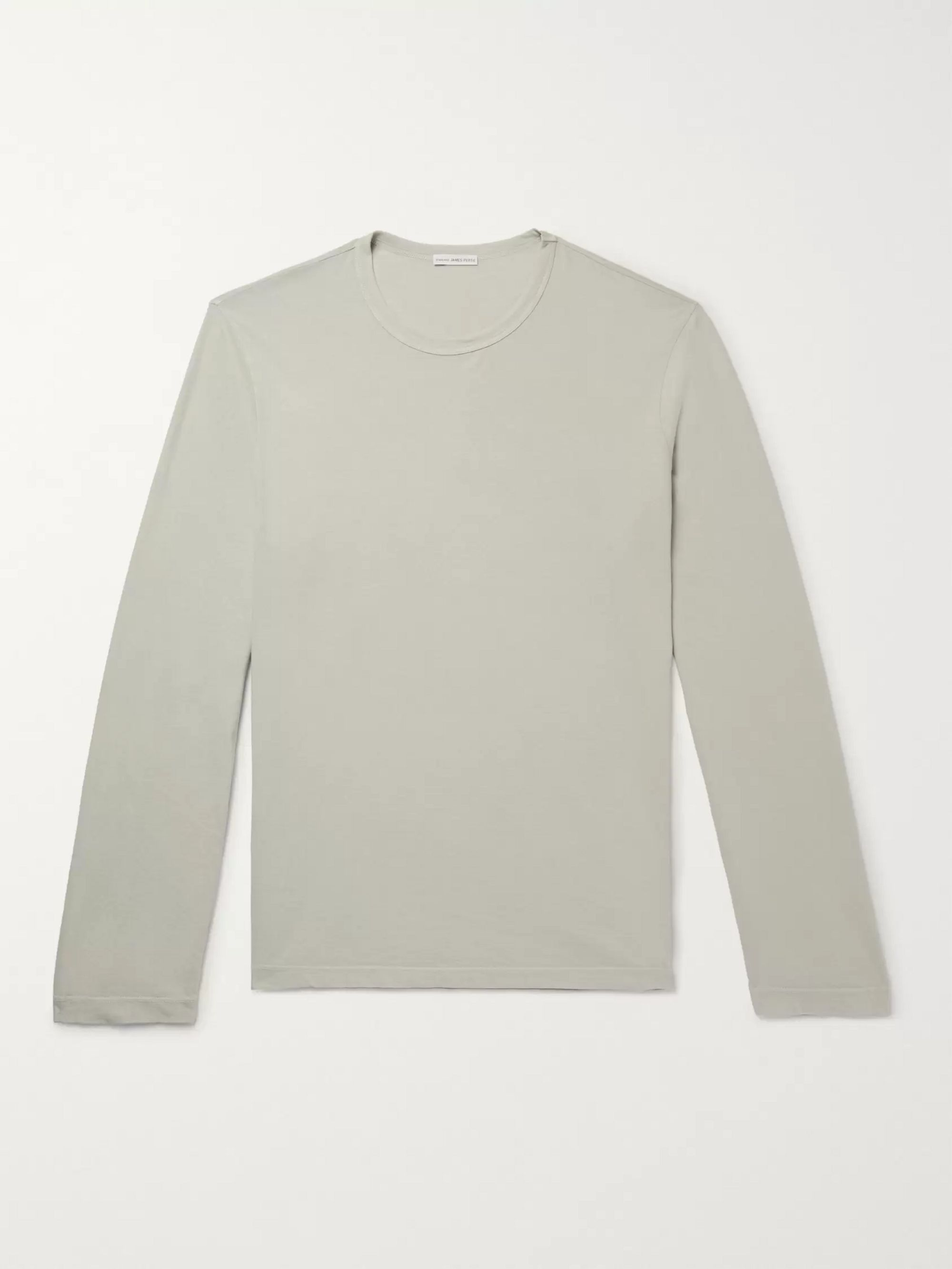 Dark gray Combed Cotton Jersey T Shirt | James Perse | MR PORTER