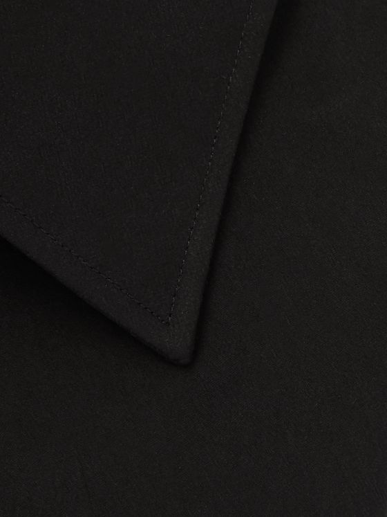 SALLE PRIVÉE Black Cotton and Silk-Blend Shirt