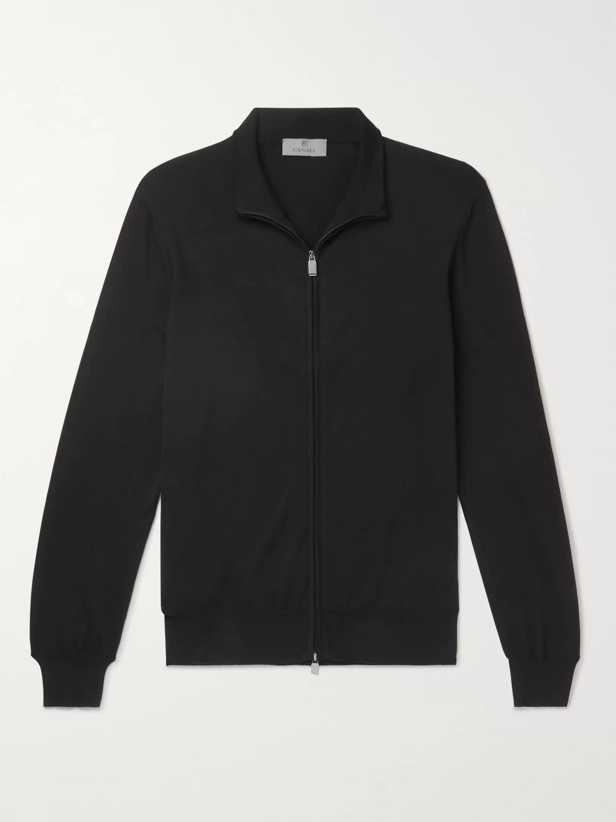 Canali Slim-Fit Cotton Zip-Up Cardigan