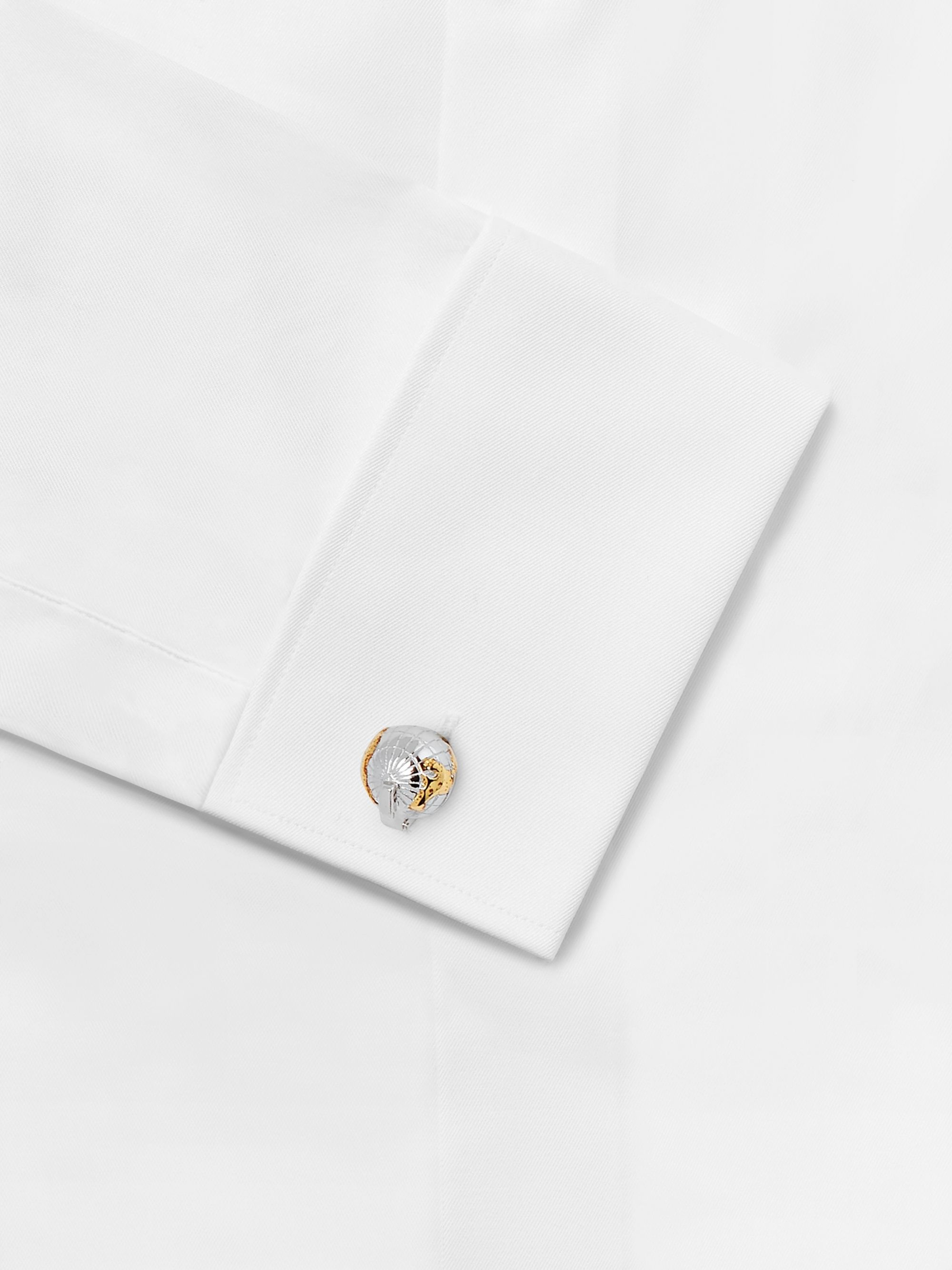 TATEOSSIAN Silver, Gold and Rhodium-Plated Cufflinks