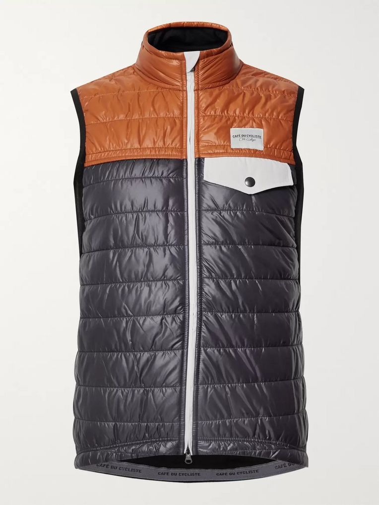 Cafe du Cycliste Albertine Two-Tone Shell and Fleece Primaloft Cycling Gilet