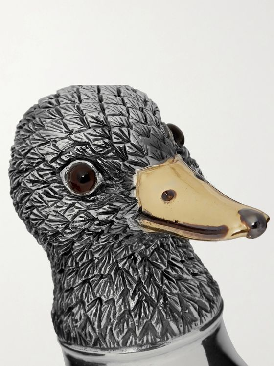 Asprey Duck Oxidised Sterling Silver Bottle Opener