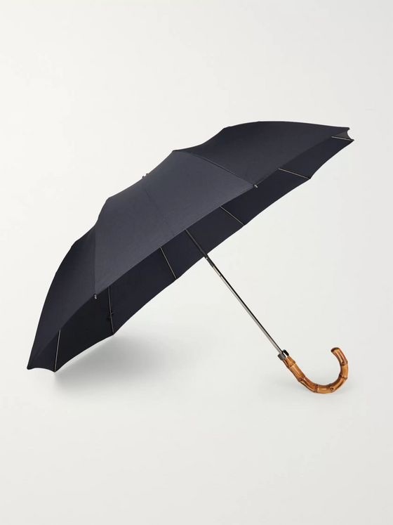 London Undercover Wood-Handle Telescopic Umbrella