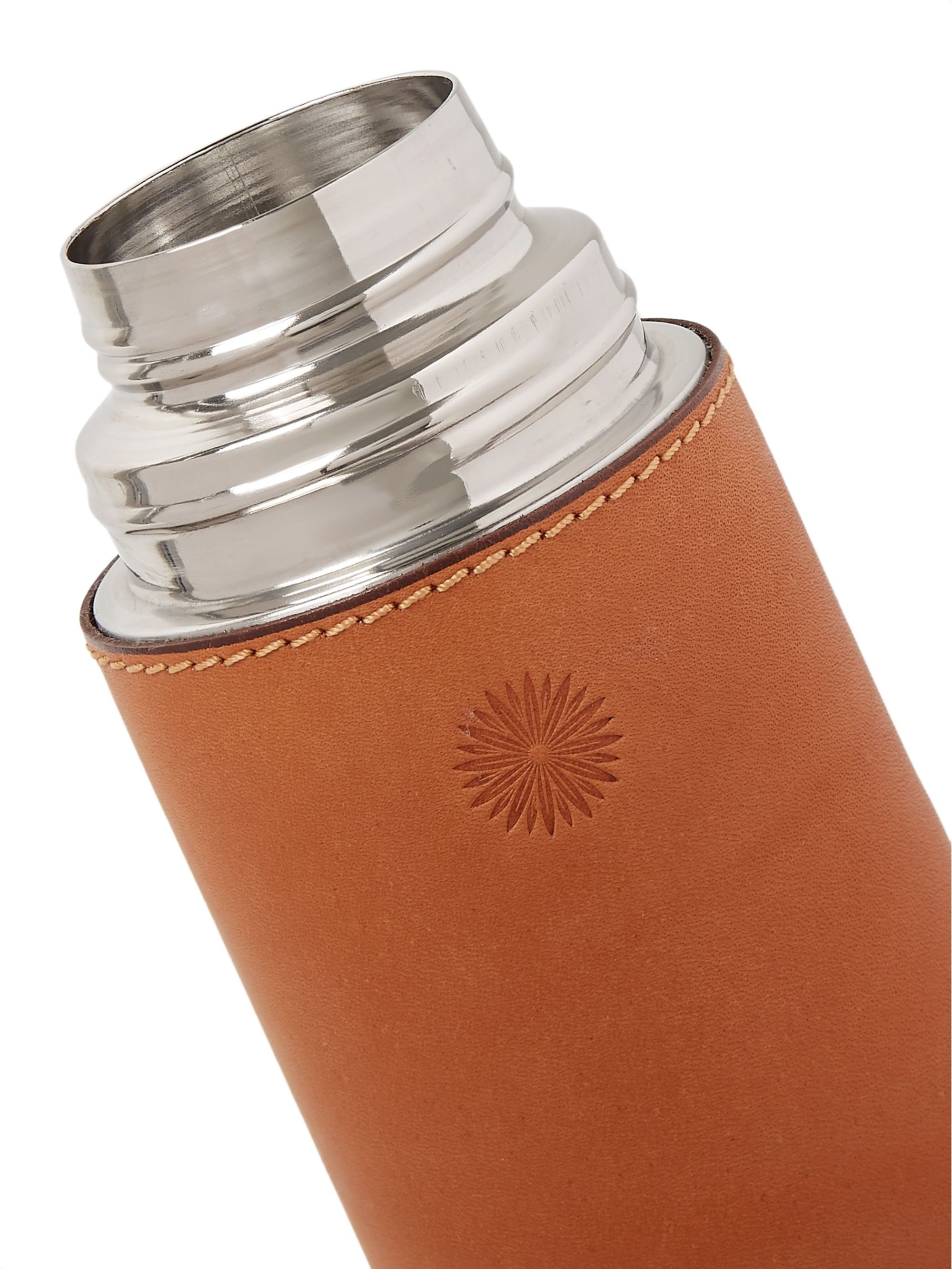 James Purdey & Sons Leather and Steel Flask