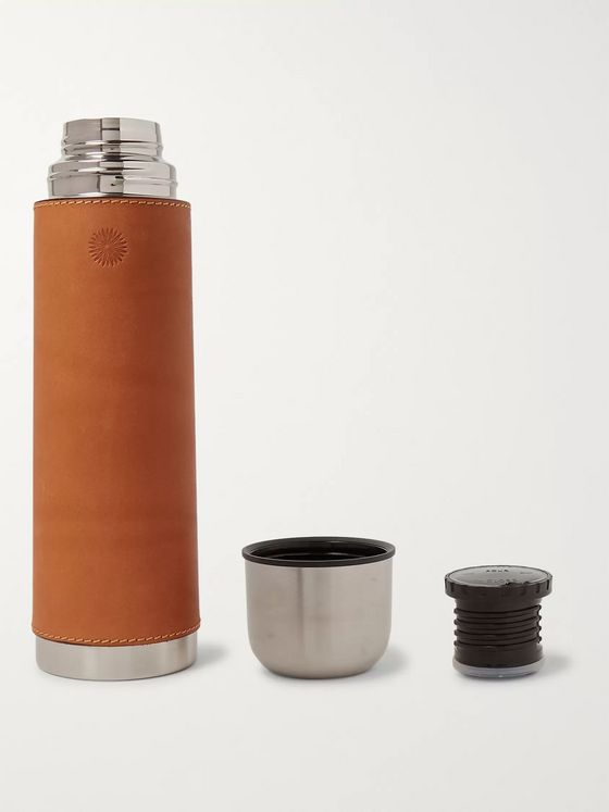 Purdey Leather and Steel Flask