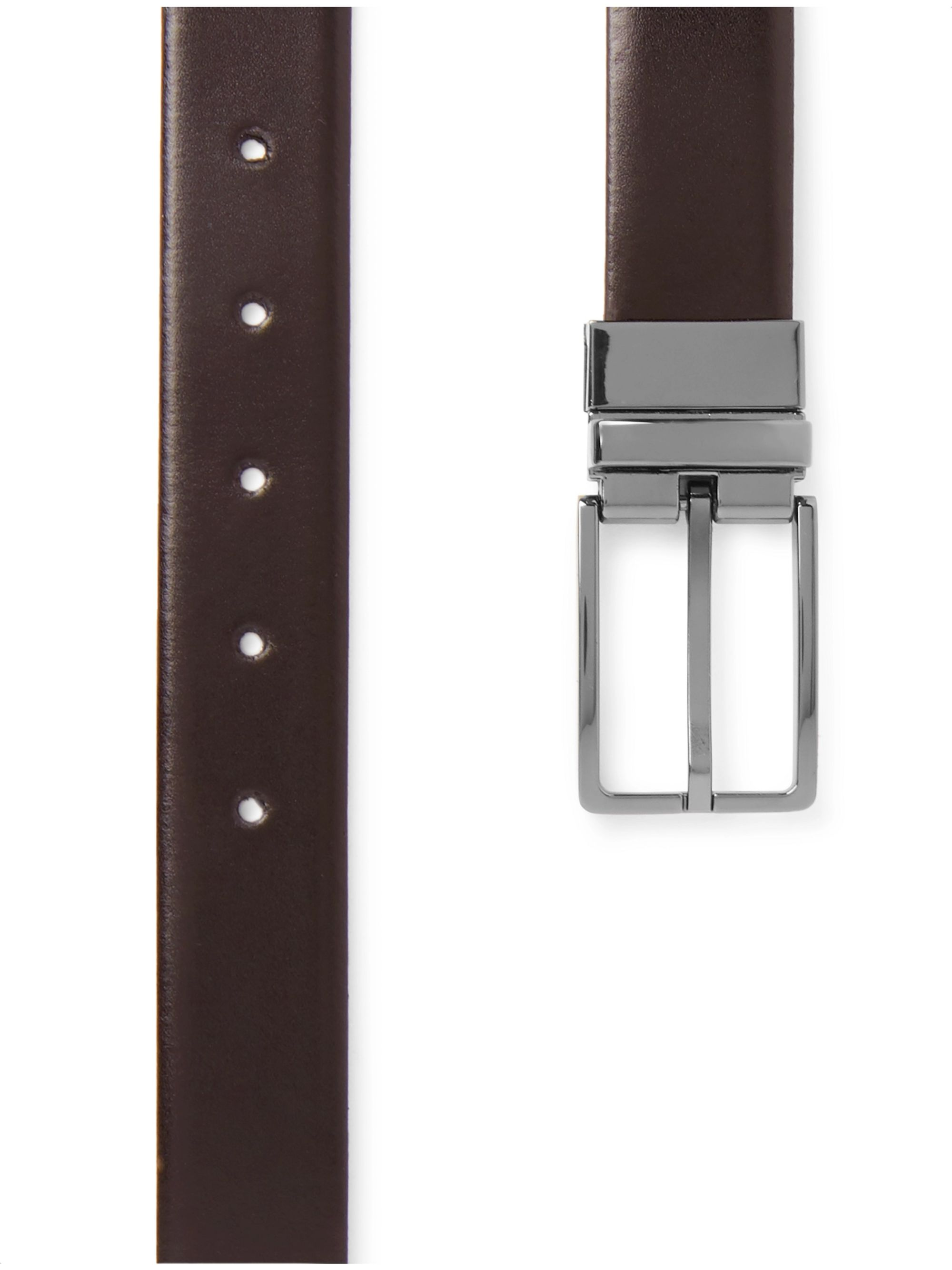 Hugo Boss 3.5cm Black and Brown Onel-G Reversible Leather Belt