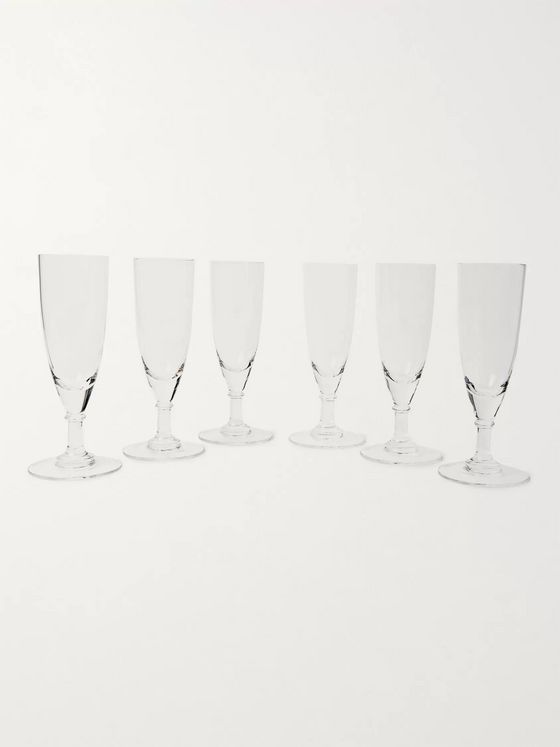 The Wolseley Collection Set of Six Crystal Champagne Glasses
