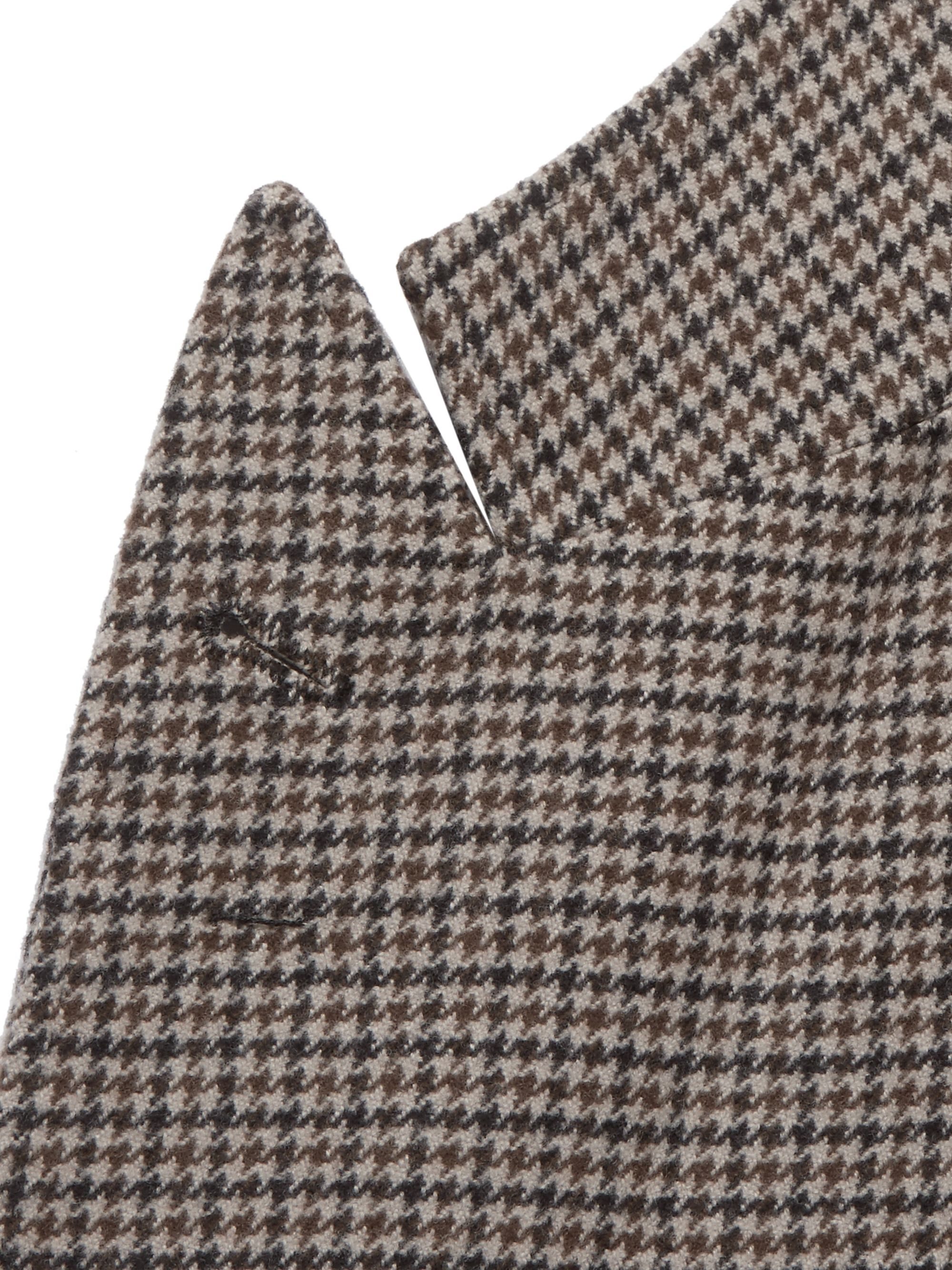 Brunello Cucinelli Brown Alessio Houndstooth Wool and Cashmere-Blend Blazer