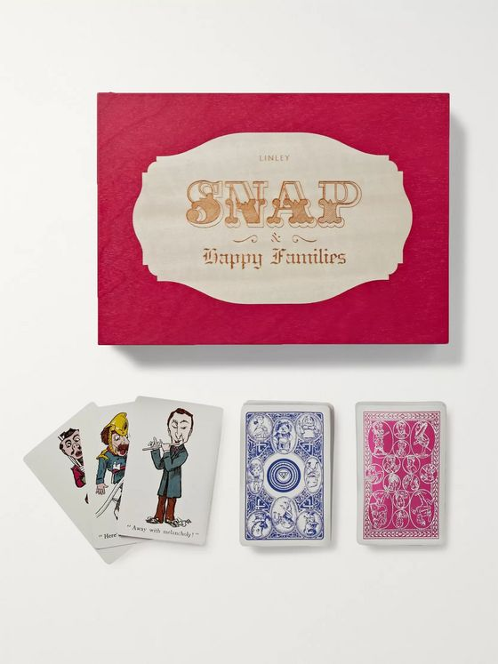Linley Two-Pack Illustrated Playing Cards Game Set