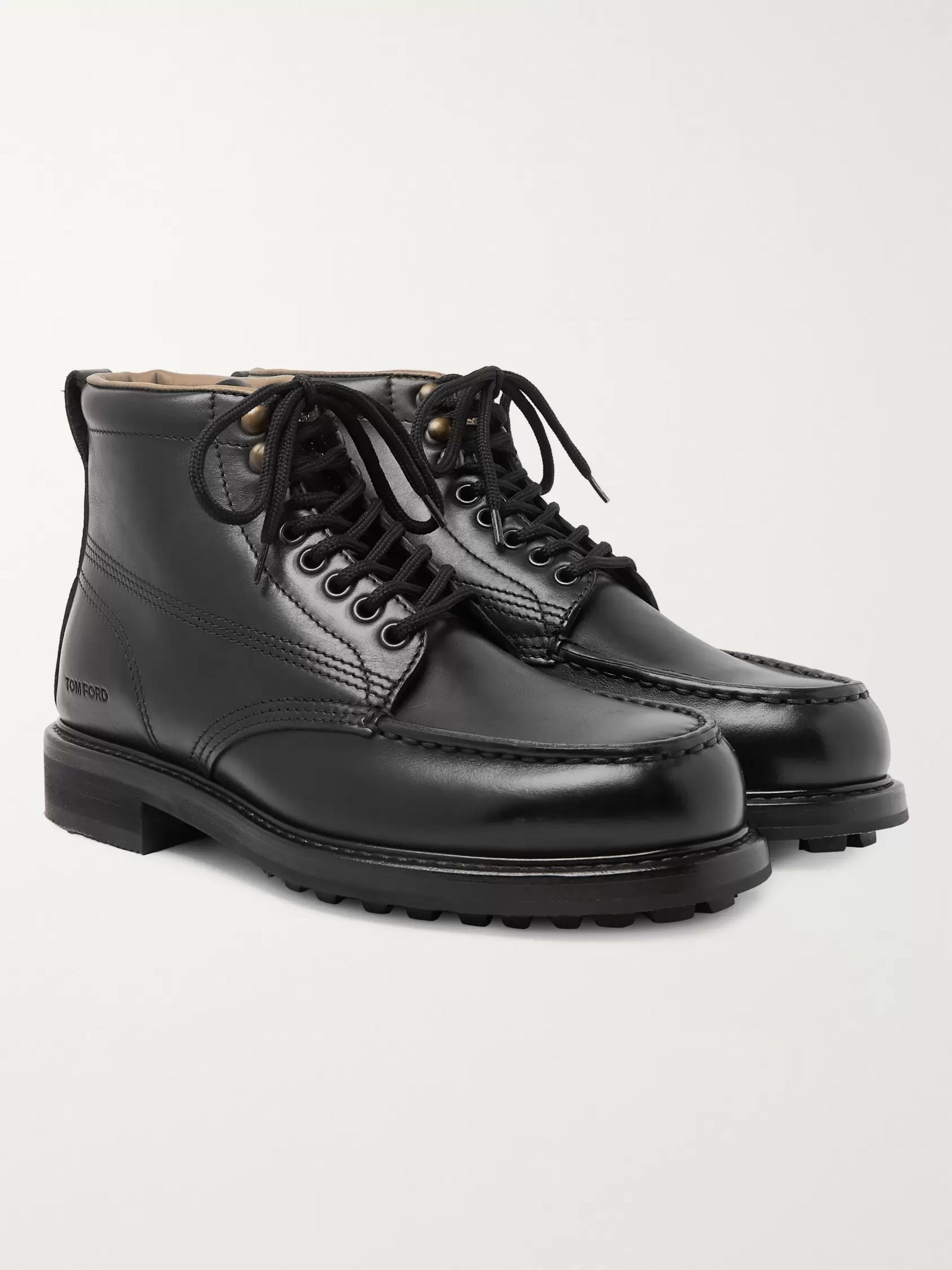 Cromwell Leather Hiking Boots by Tom Ford