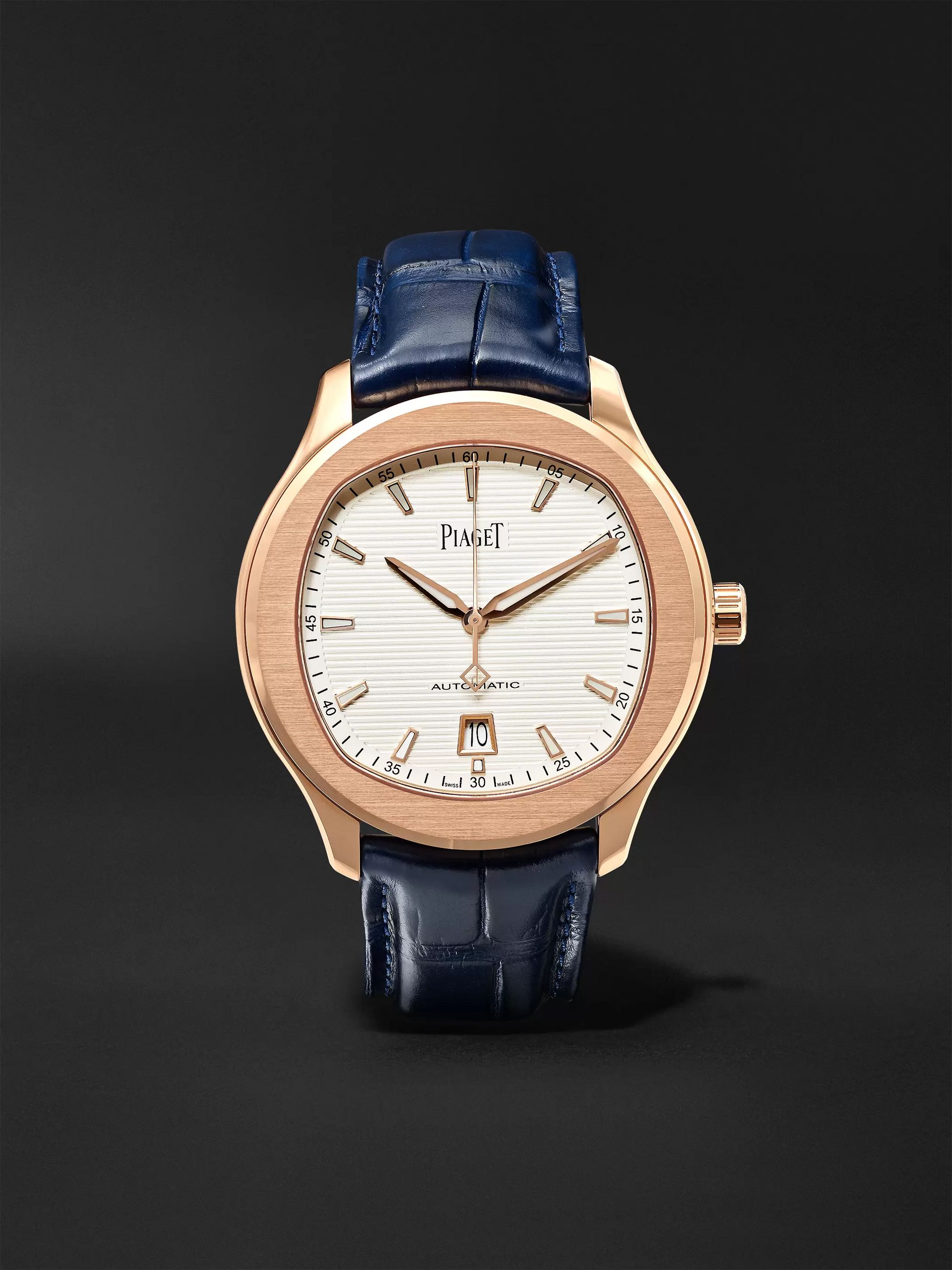 Piaget Polo S Automatic 42mm 18-Karat Rose Gold and Alligator Watch, Ref. No. G0A43010