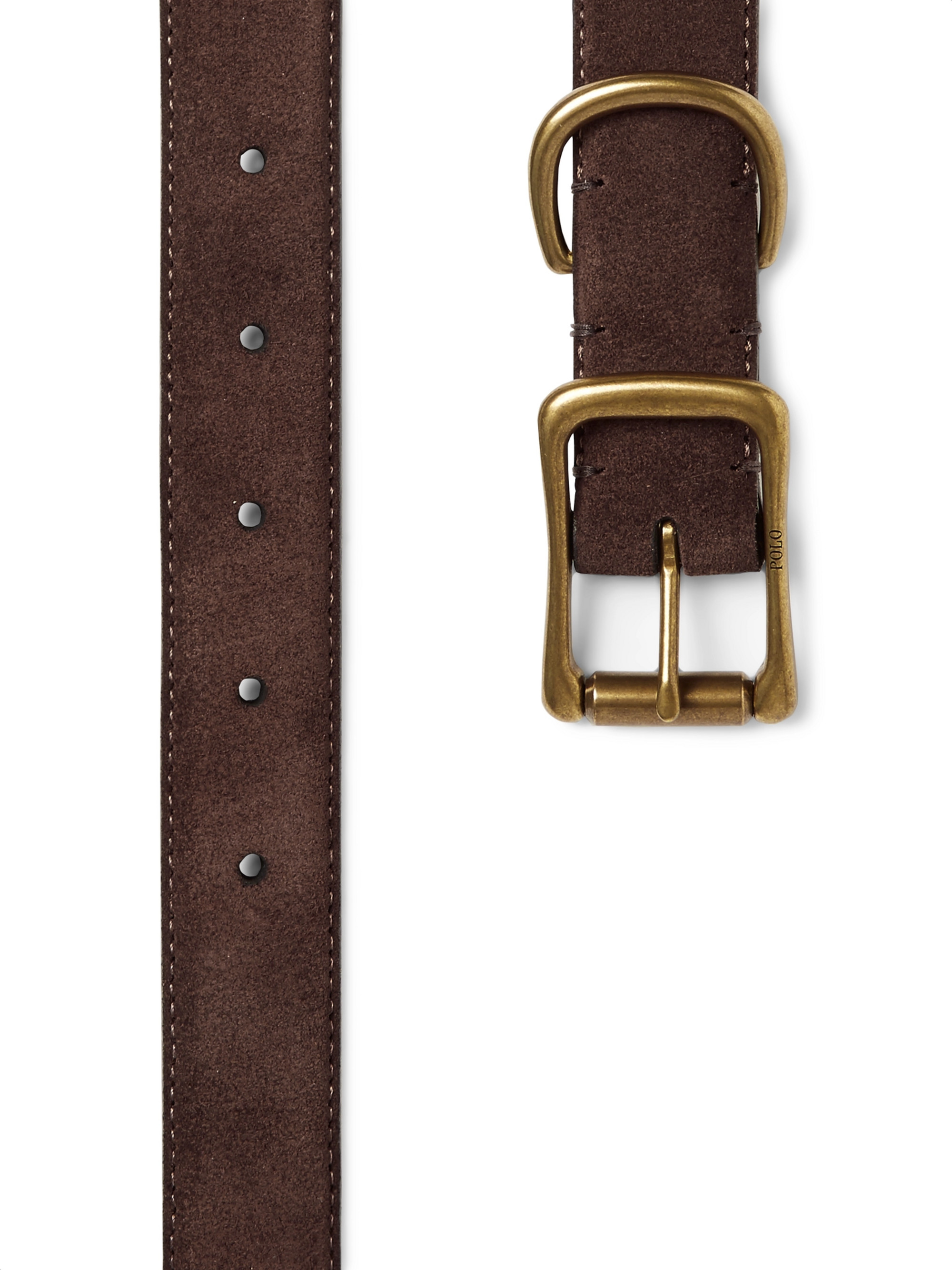 Polo Ralph Lauren 2.5cm Brown Brushed-Suede Belt