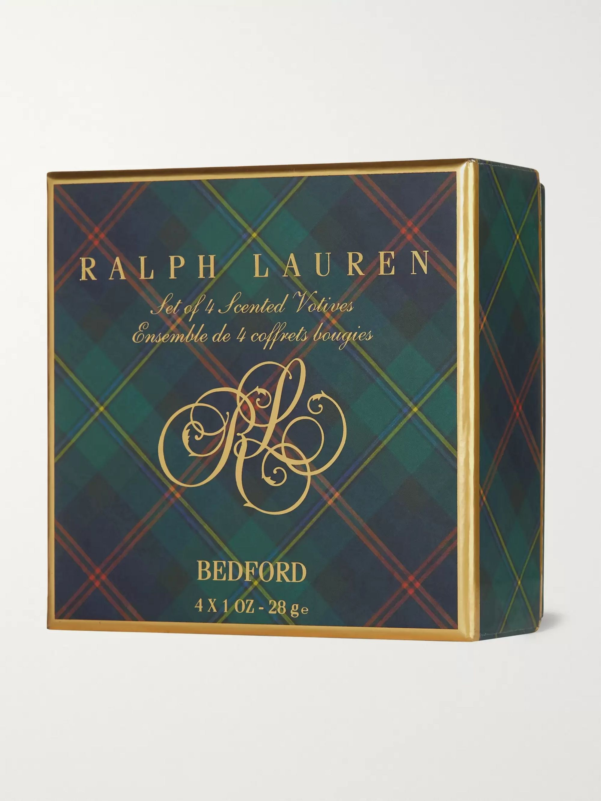 Ralph Lauren Home Bedford Votive Scented Candle Set, 4 x 28g