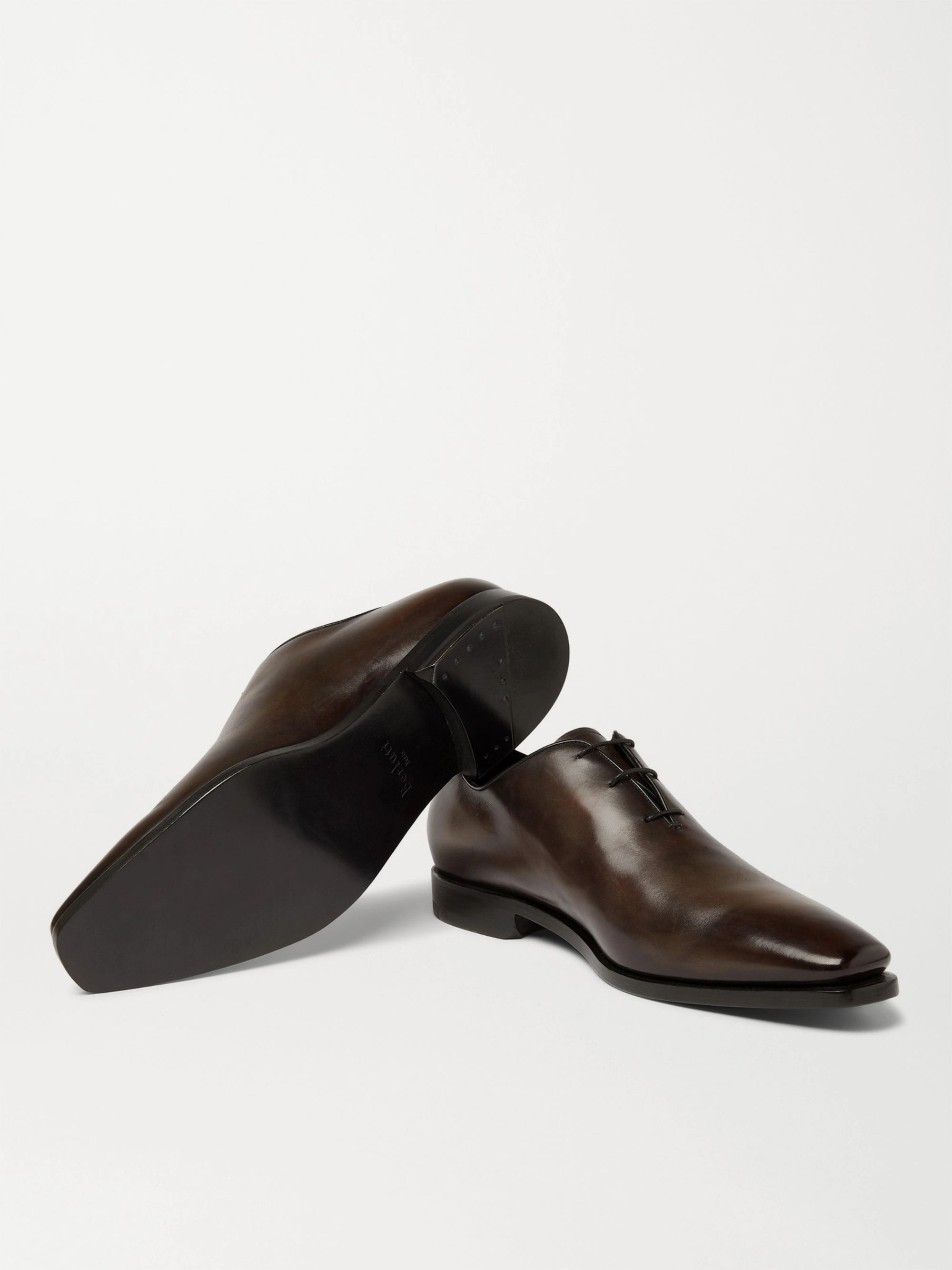 Berluti Alessandro Eclair Whole-Cut Leather Oxford Shoes