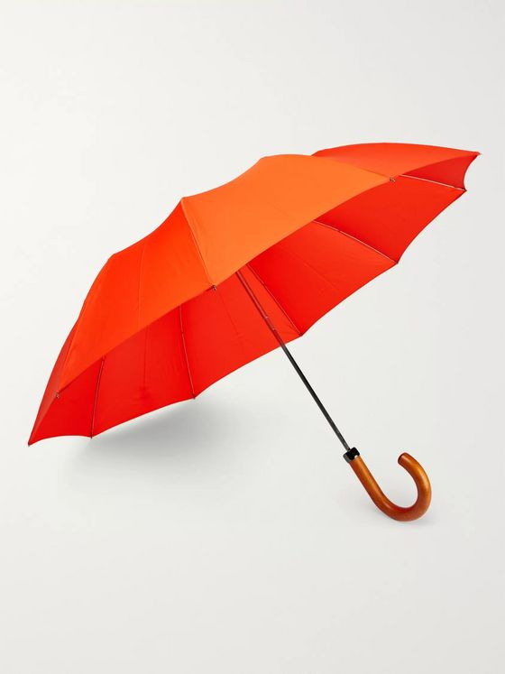 London Undercover Maple Wood-Handle Telescopic Umbrella