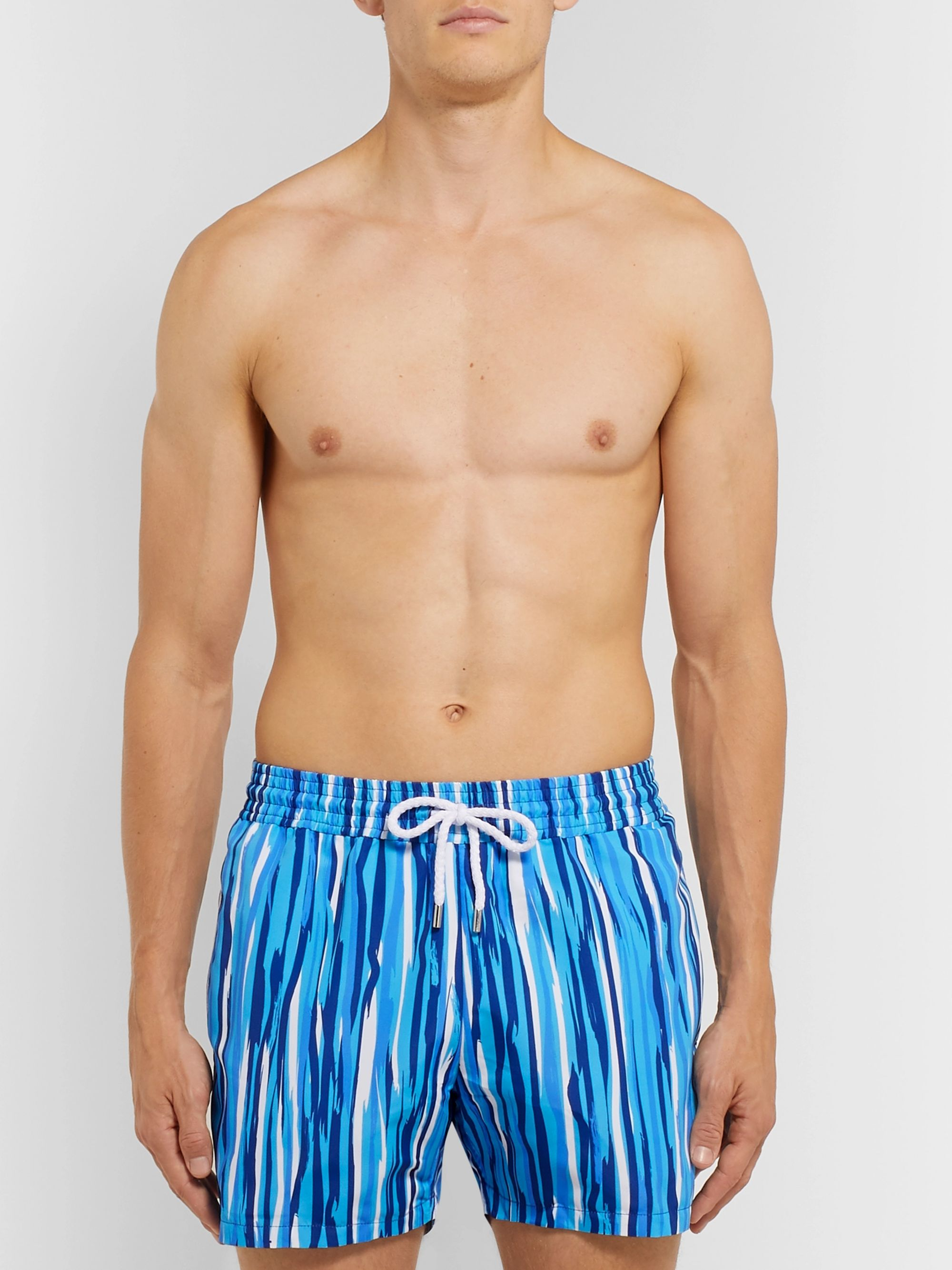 Frescobol Carioca Açu Slim-Fit Short-Length Printed Swim Shorts