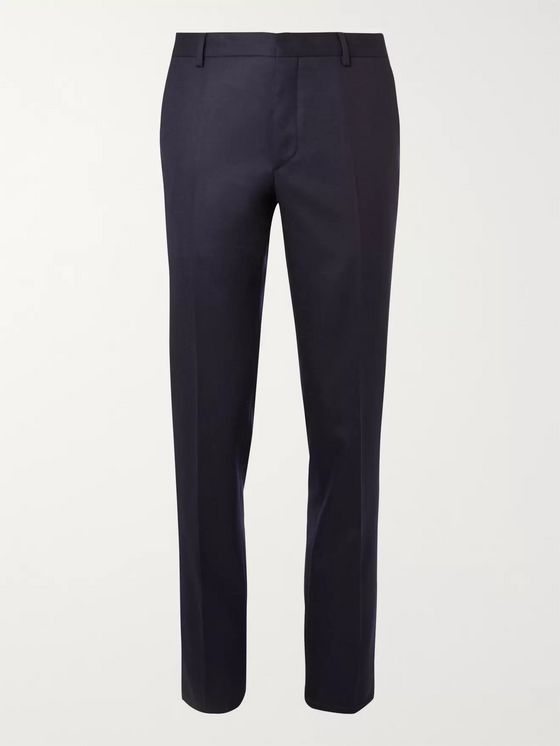 Prada Slim-Fit Navy Super 120s Wool-Flannel Suit Trousers