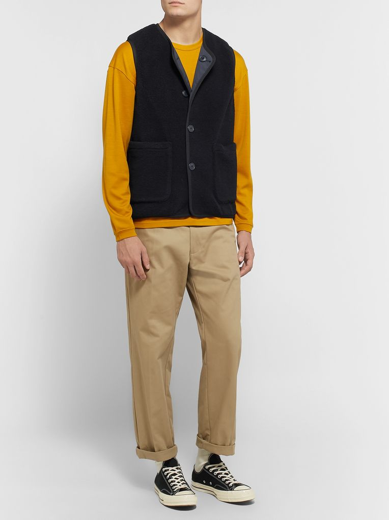 Pilgrim Surf + Supply Hayes Reversible Wool-Blend Fleece and Nylon Gilet