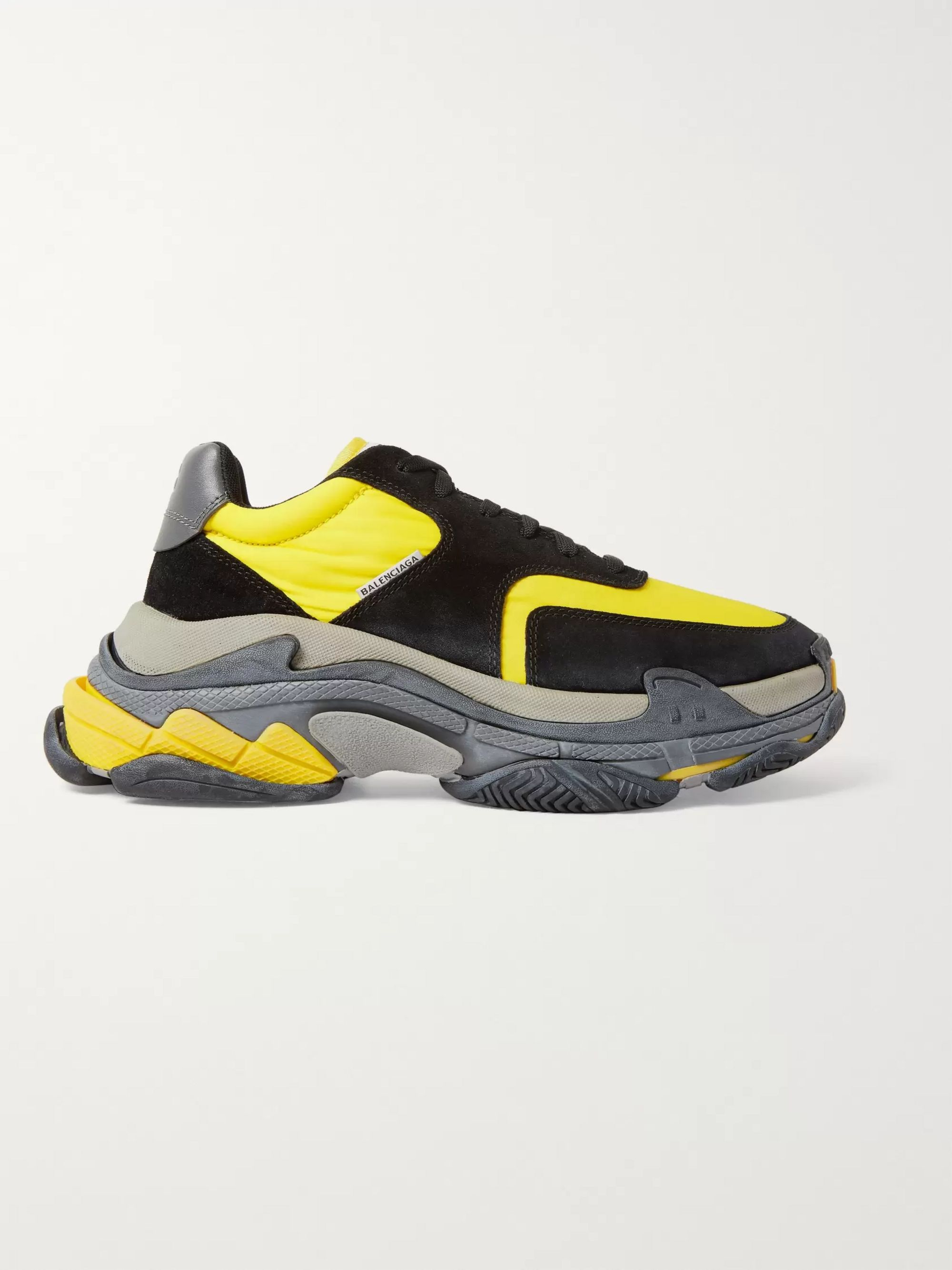 Balenciaga Triple S Nylon, Nubuck and Leather Sneakers