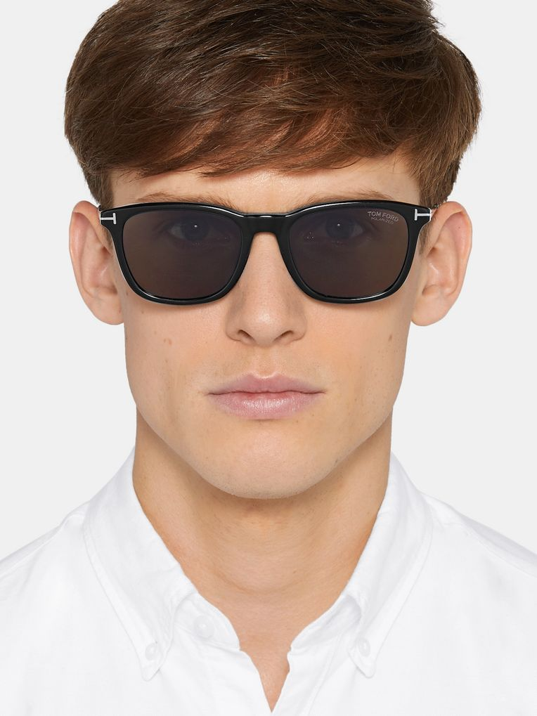 TOM FORD Square-Frame Acetate Polarised Sunglasses