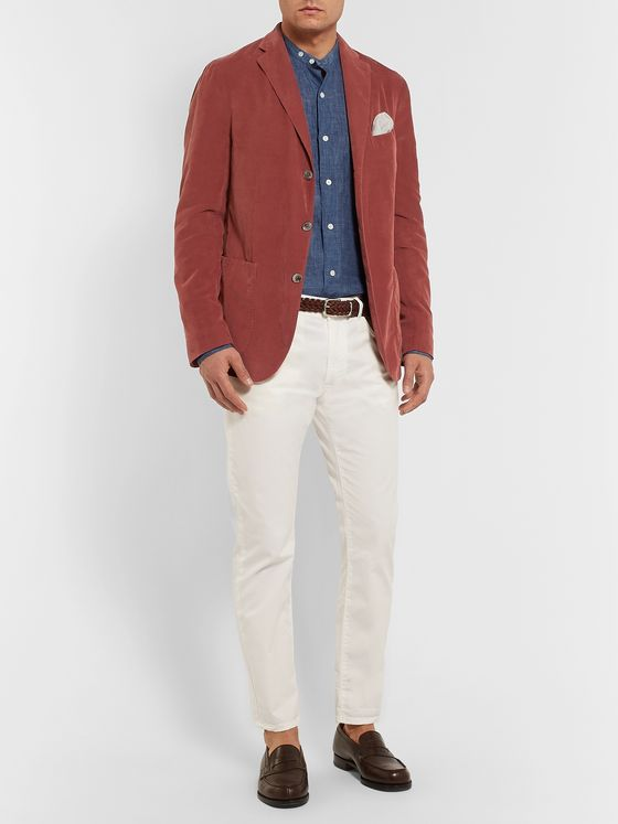 Boglioli Brick Slim-Fit Unstructured Cotton-Corduroy Blazer