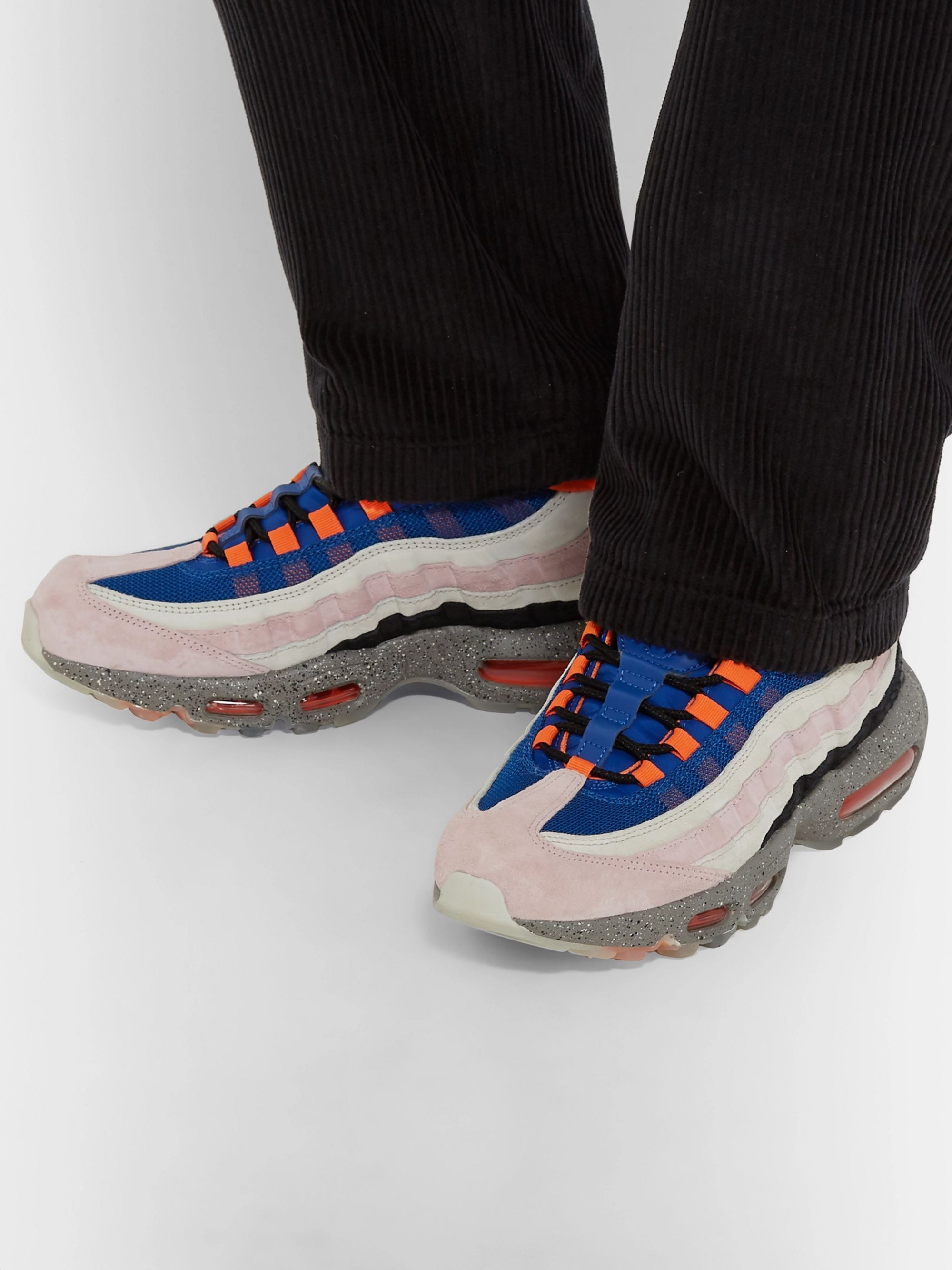 check-out 8546a 486cf Air Max 95 Panelled Faux Suede and Mesh Sneakers