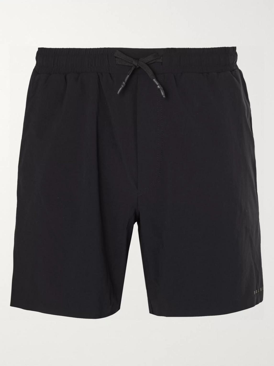 falke ergonomic sport system - basic challenger slim-fit stretch-shell shorts - men - black