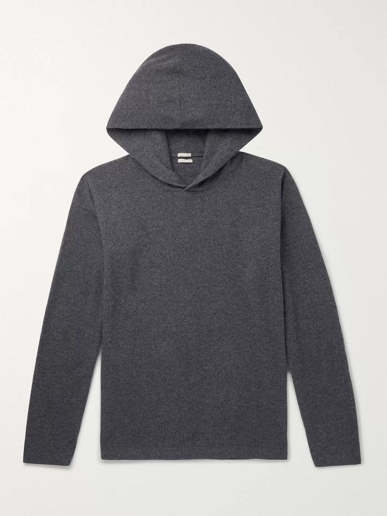 Massimo Alba Mélange Wool and Cashmere-Blend Hoodie