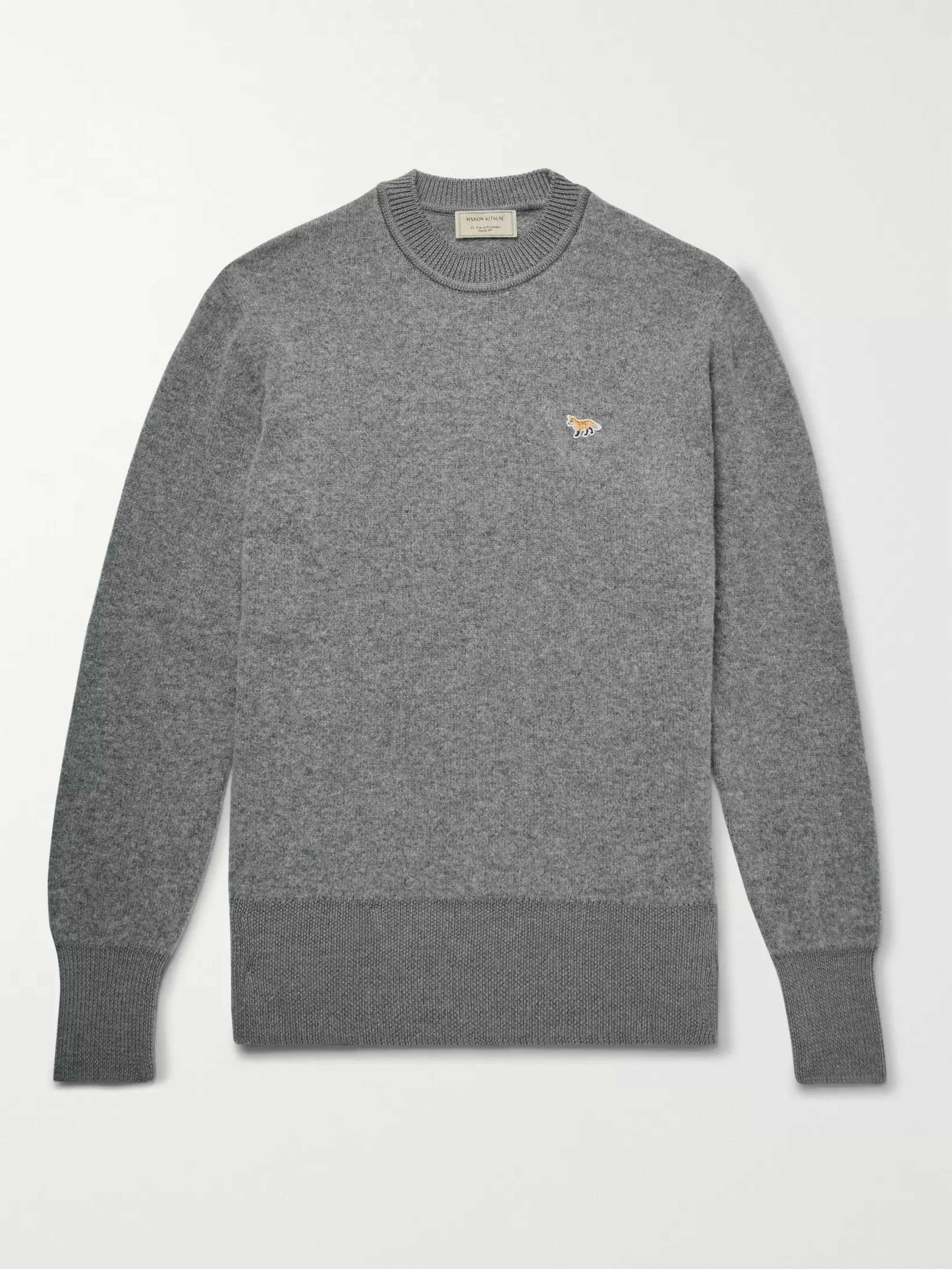 Maison Kitsuné Two-Tone Wool Sweater