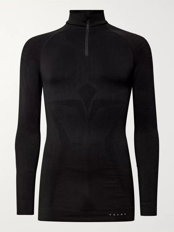 FALKE Ergonomic Sport System Maximum Stretch-Knit Half-Zip Base Layer