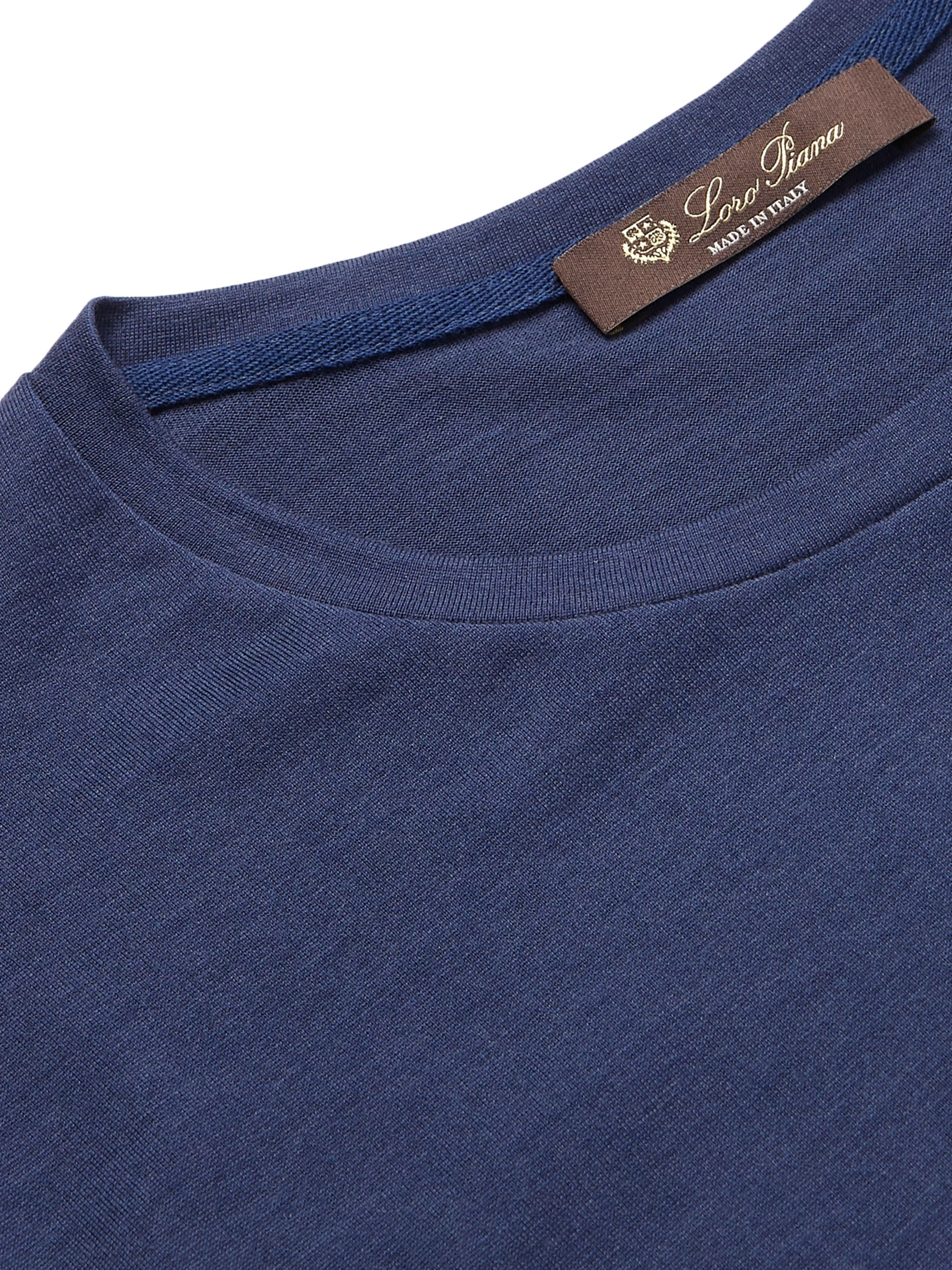 LORO PIANA Slim-Fit Silk and Cotton-Blend Jersey T-Shirt