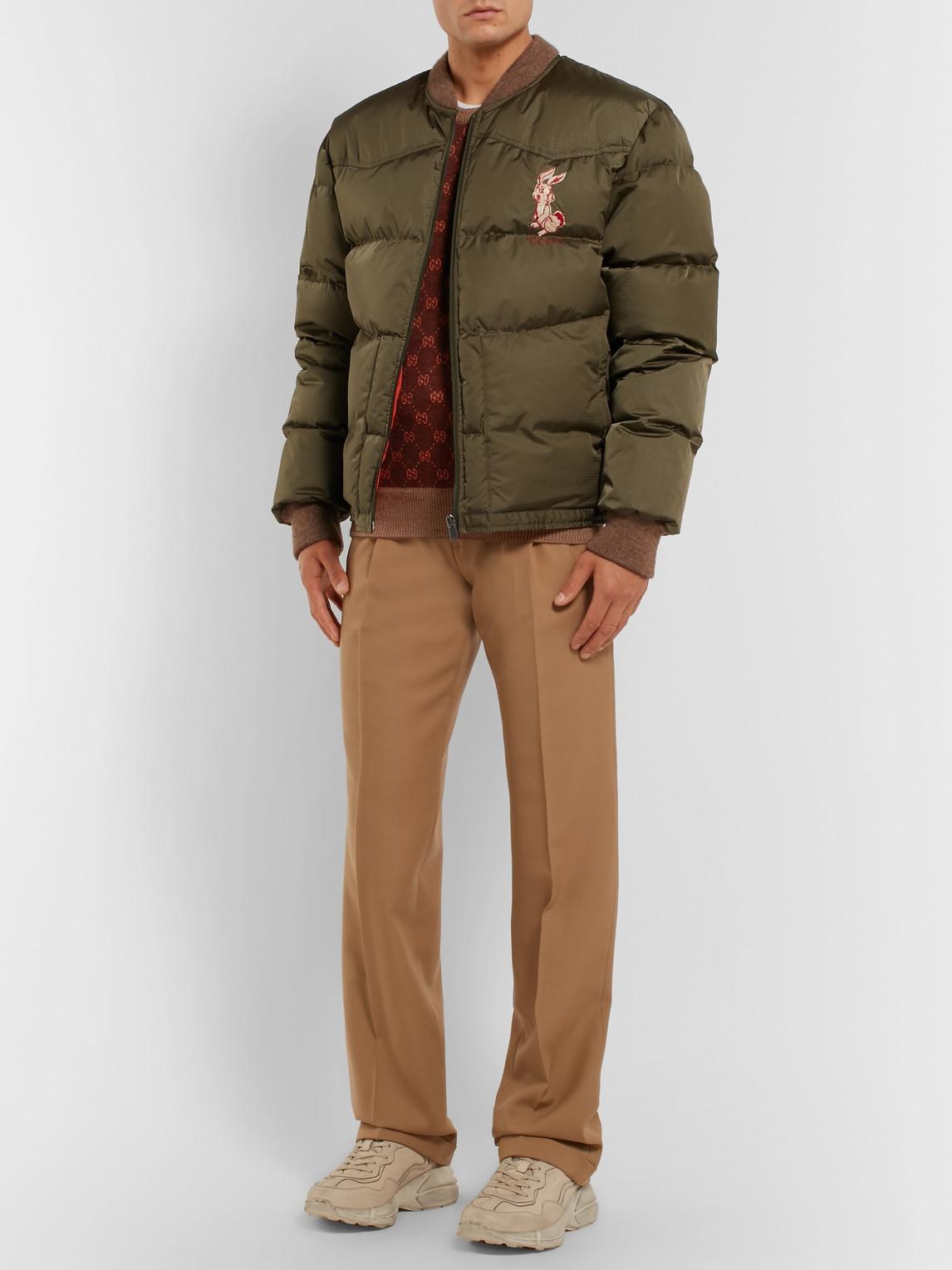Gucci Sweaters LOGO-INTARSIA WOOL AND ALPACA-BLEND SWEATER