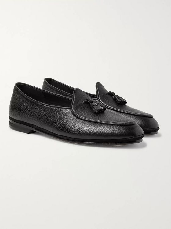 Rubinacci Marphy Textured-Leather Tasselled Loafers