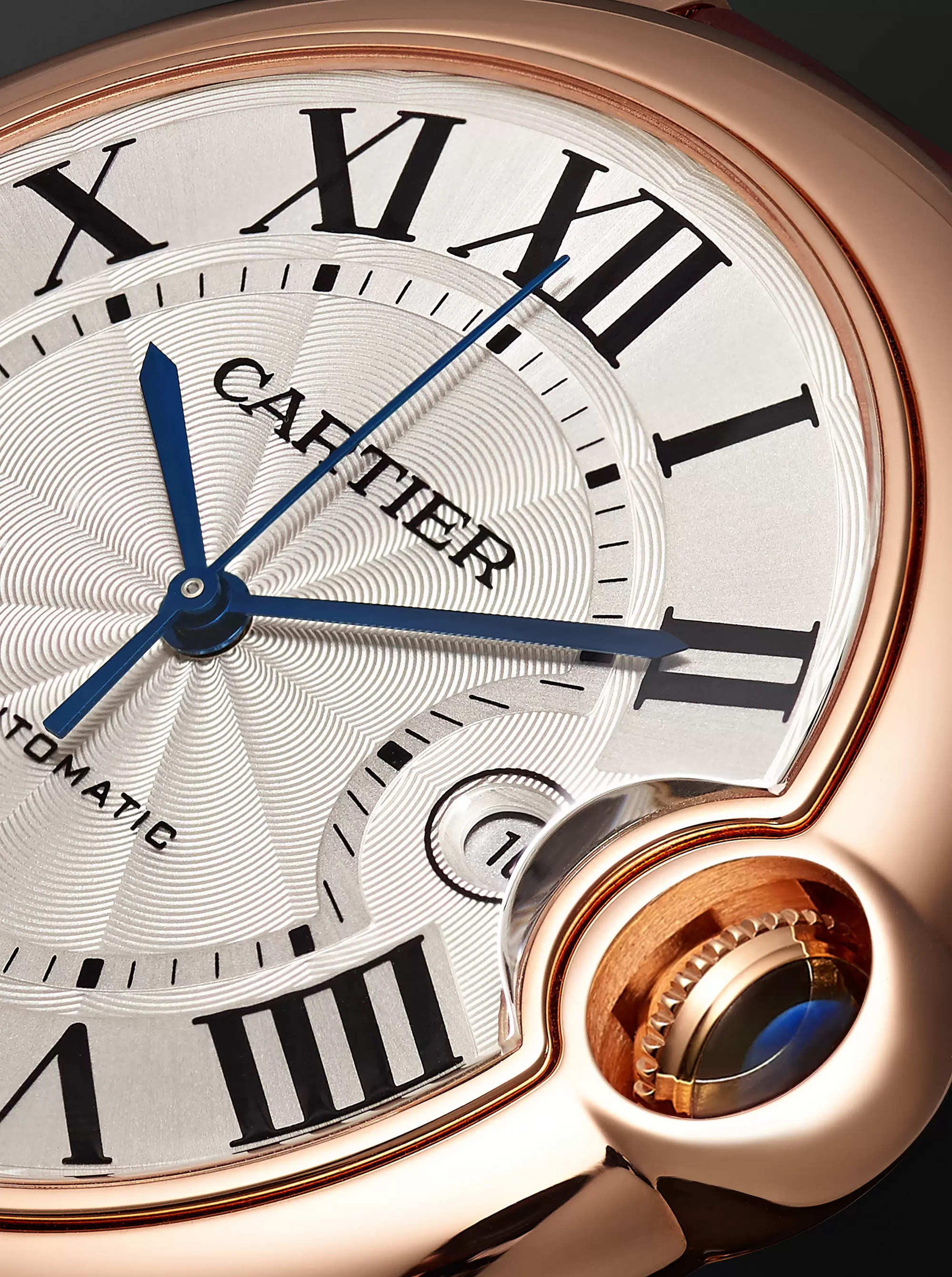 Cartier Ballon Bleu de Cartier Automatic 42mm 18-Karat Pink Gold and Alligator Watch, Ref. No. CRWGBB0017