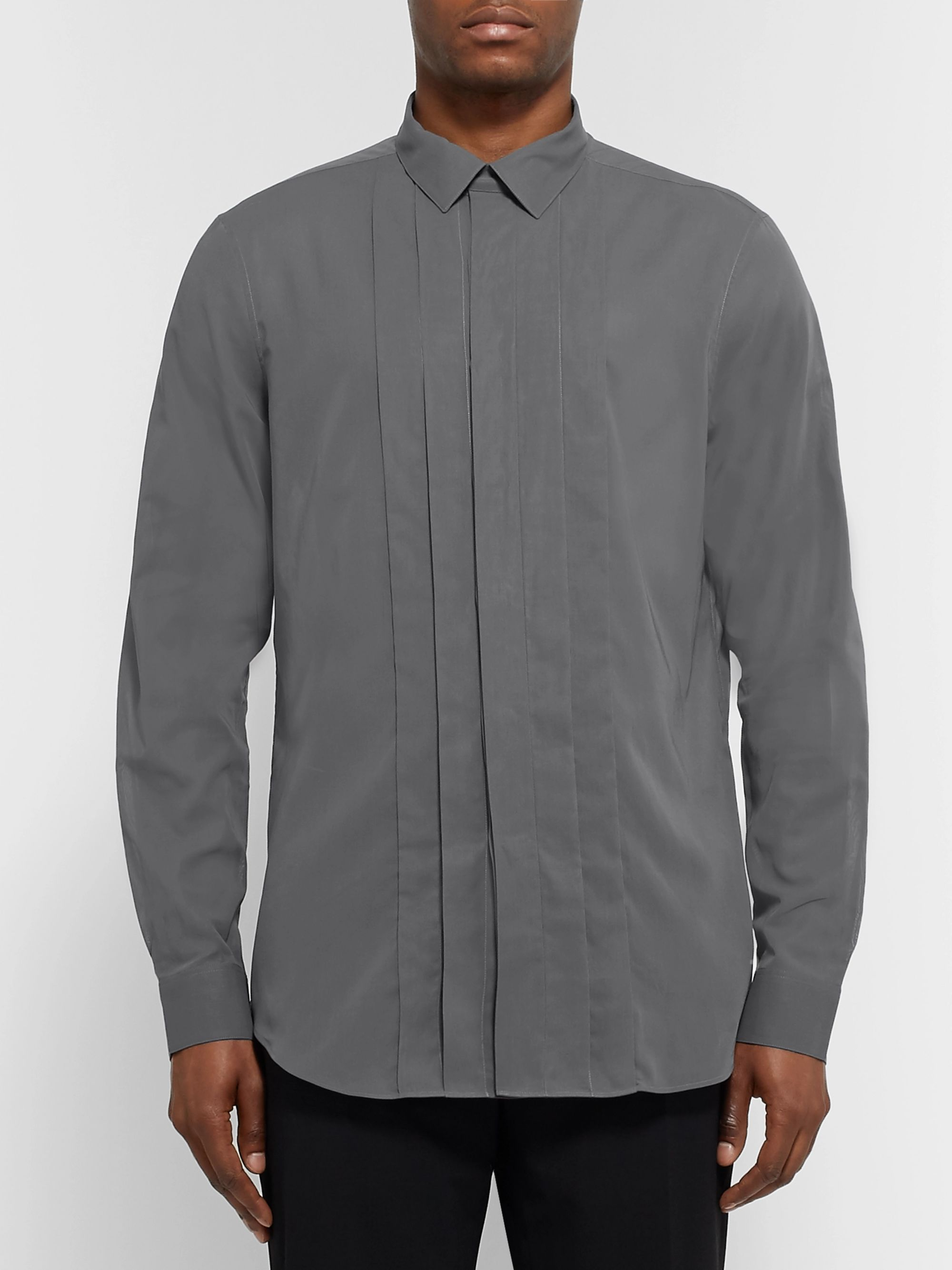 Berluti Slim-Fit Pleated Cotton Shirt