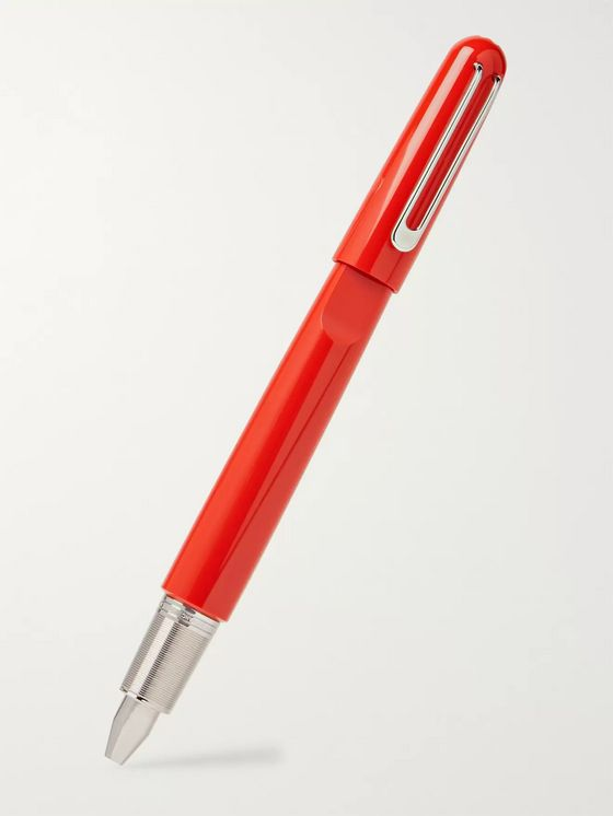 Montblanc + Marc Newson M (RED) Resin and Silver-Tone Rollerball Pen
